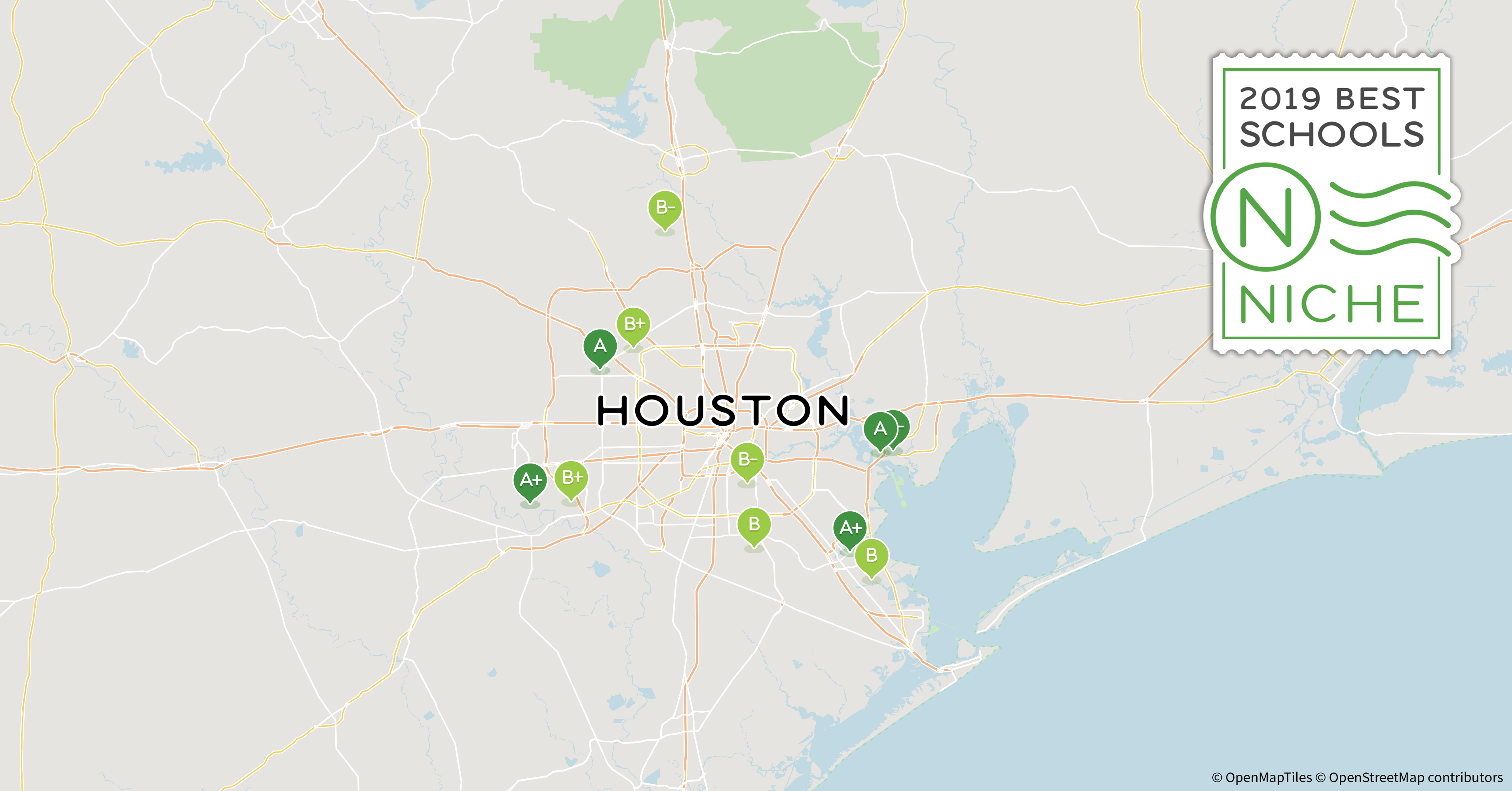 Greater Houston Area Zip Code Map.2019 Best School Districts In The Houston Area Niche