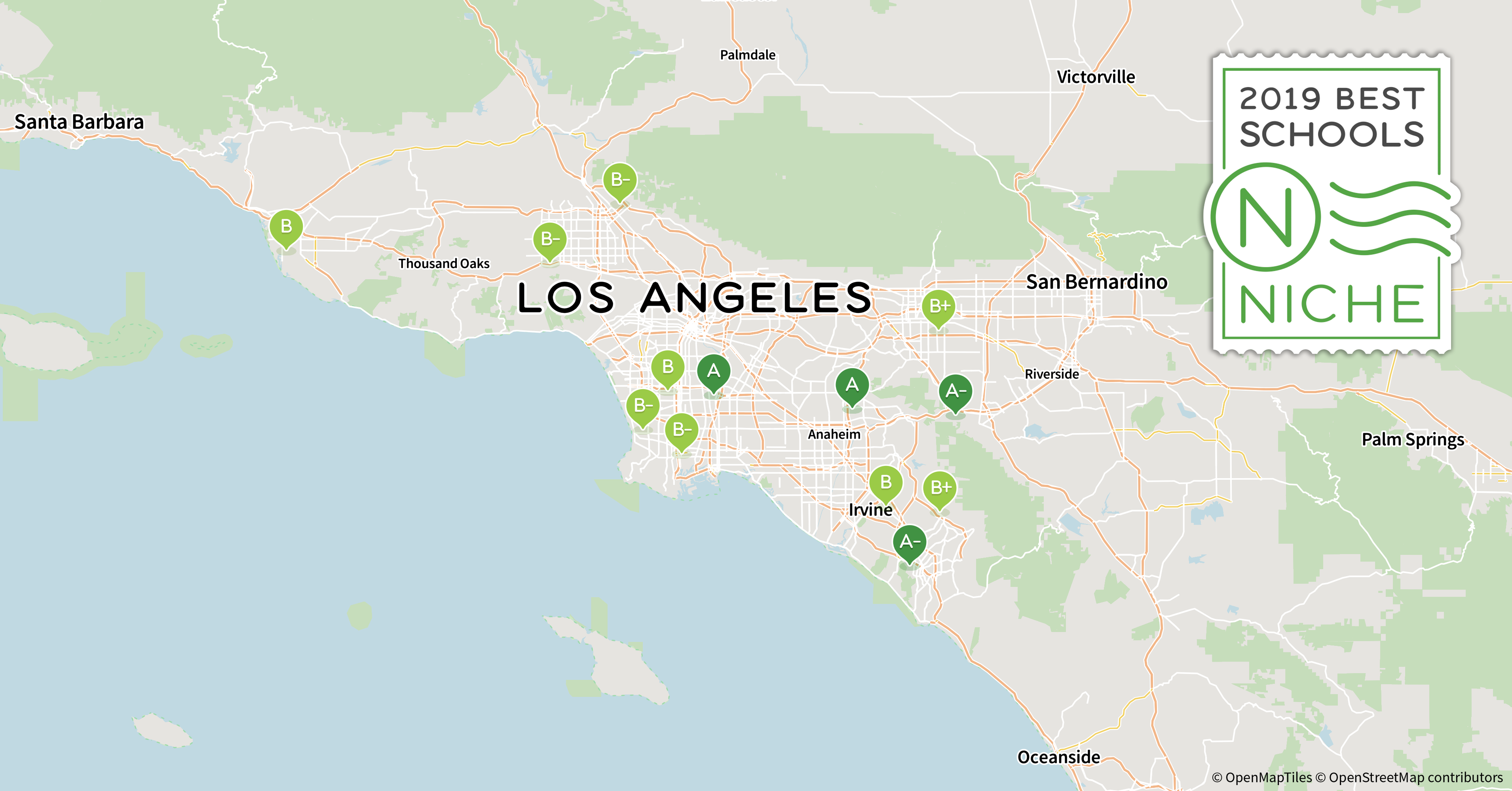 Palos Verdes Zip Code Map.2019 Best School Districts In The Los Angeles Area Niche