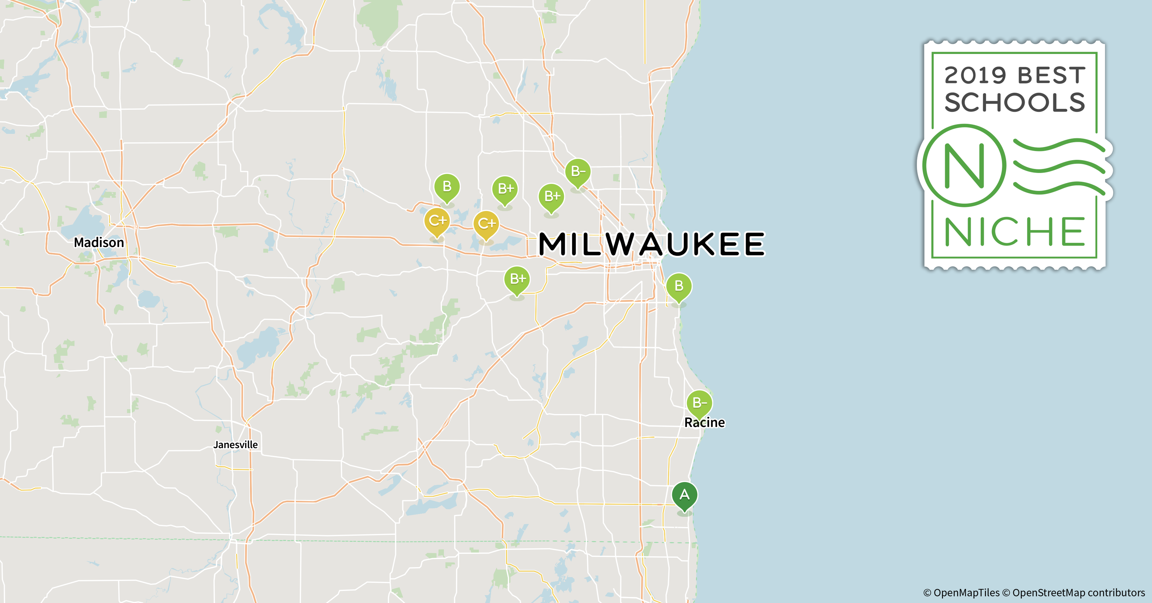 2019 Best Public High s in the Milwaukee Area - Niche Downtown Milwaukee Hotels Map on