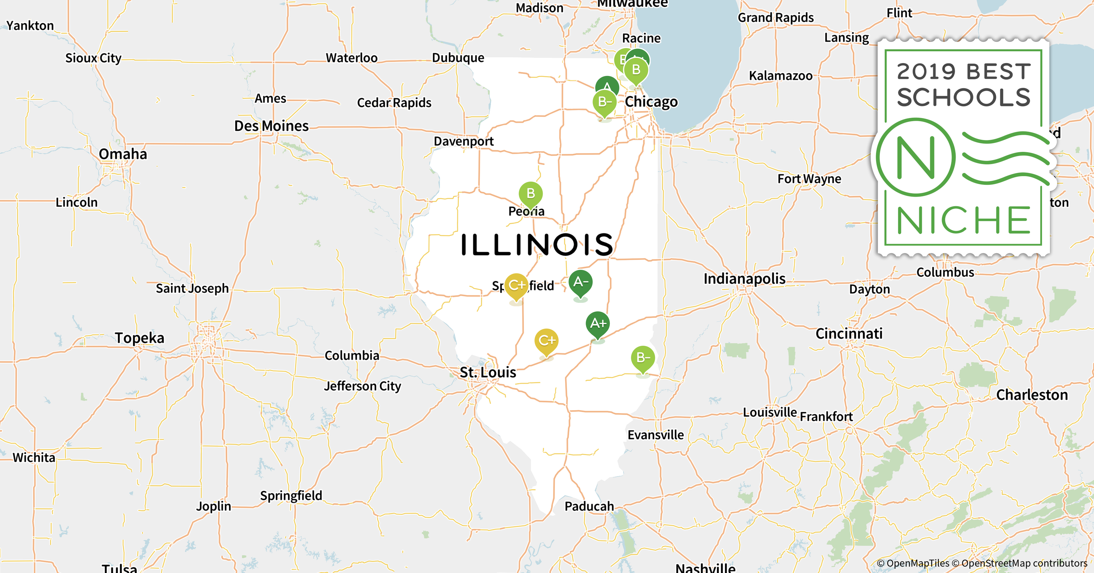 Southern Illinois Map With Cities.2019 Best School Districts In Illinois Niche