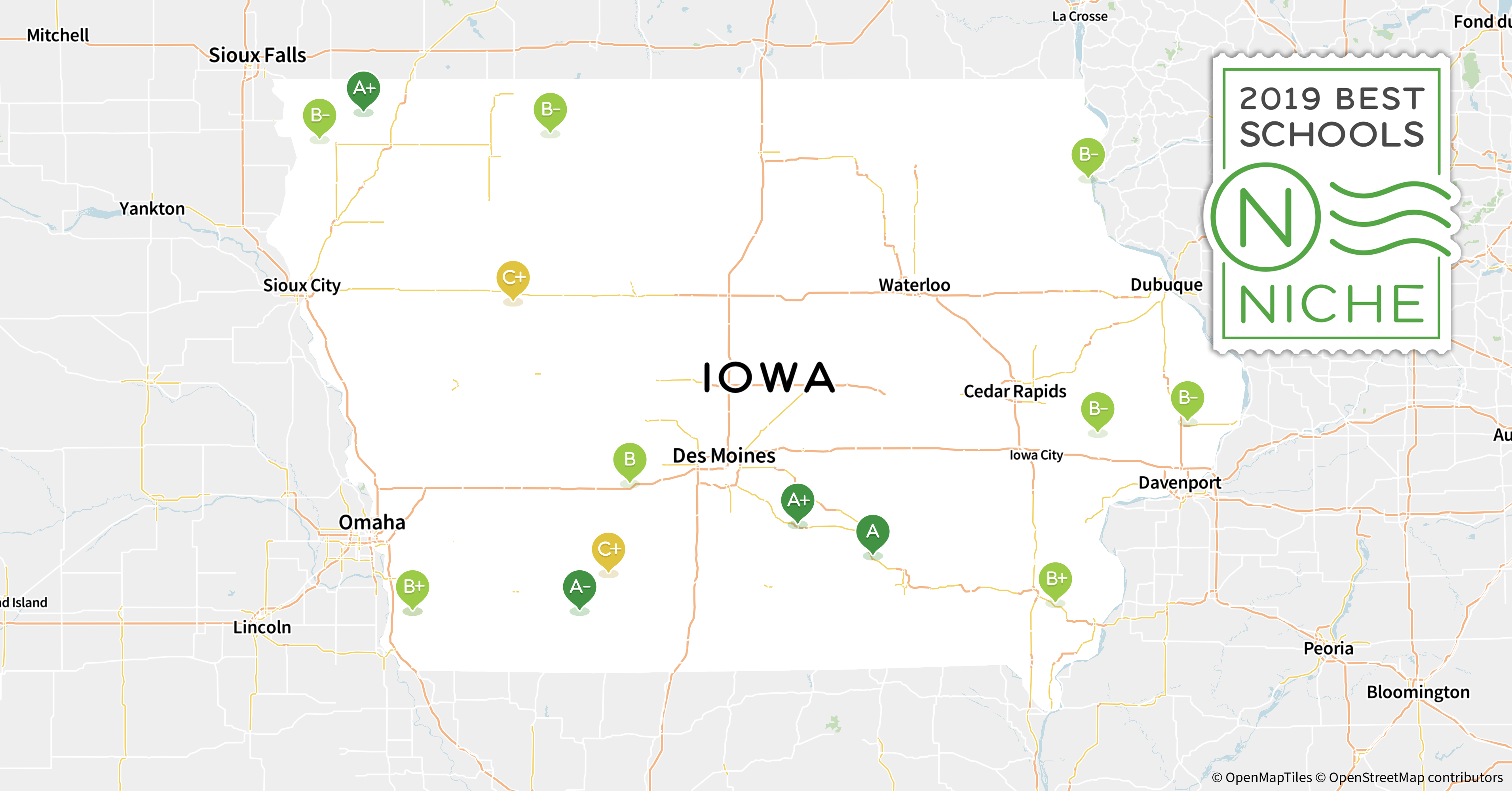 Garner Iowa Map.2019 Best Places To Teach In Iowa Niche