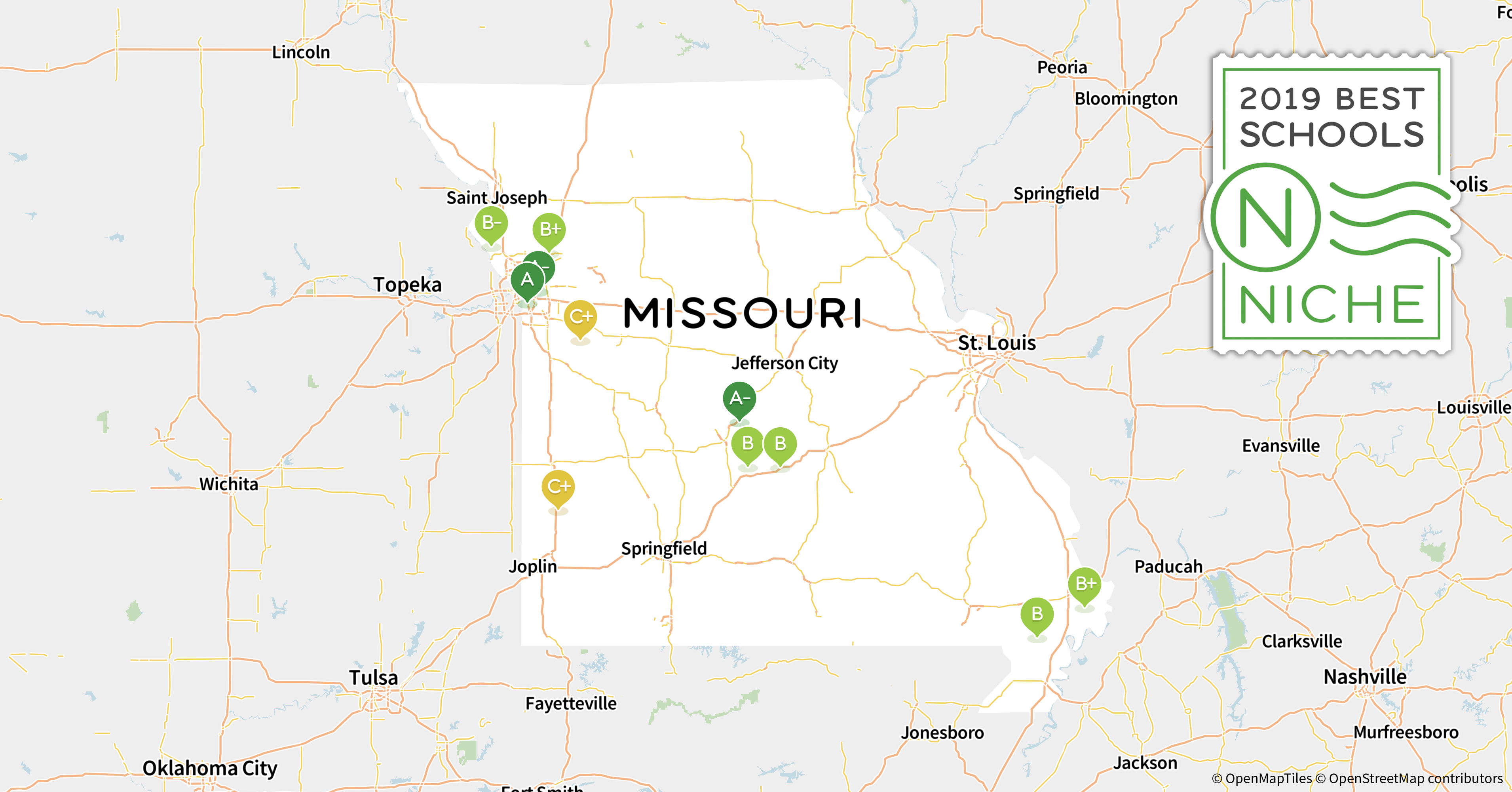Northwest Missouri Map.2019 Best School Districts In Missouri Niche