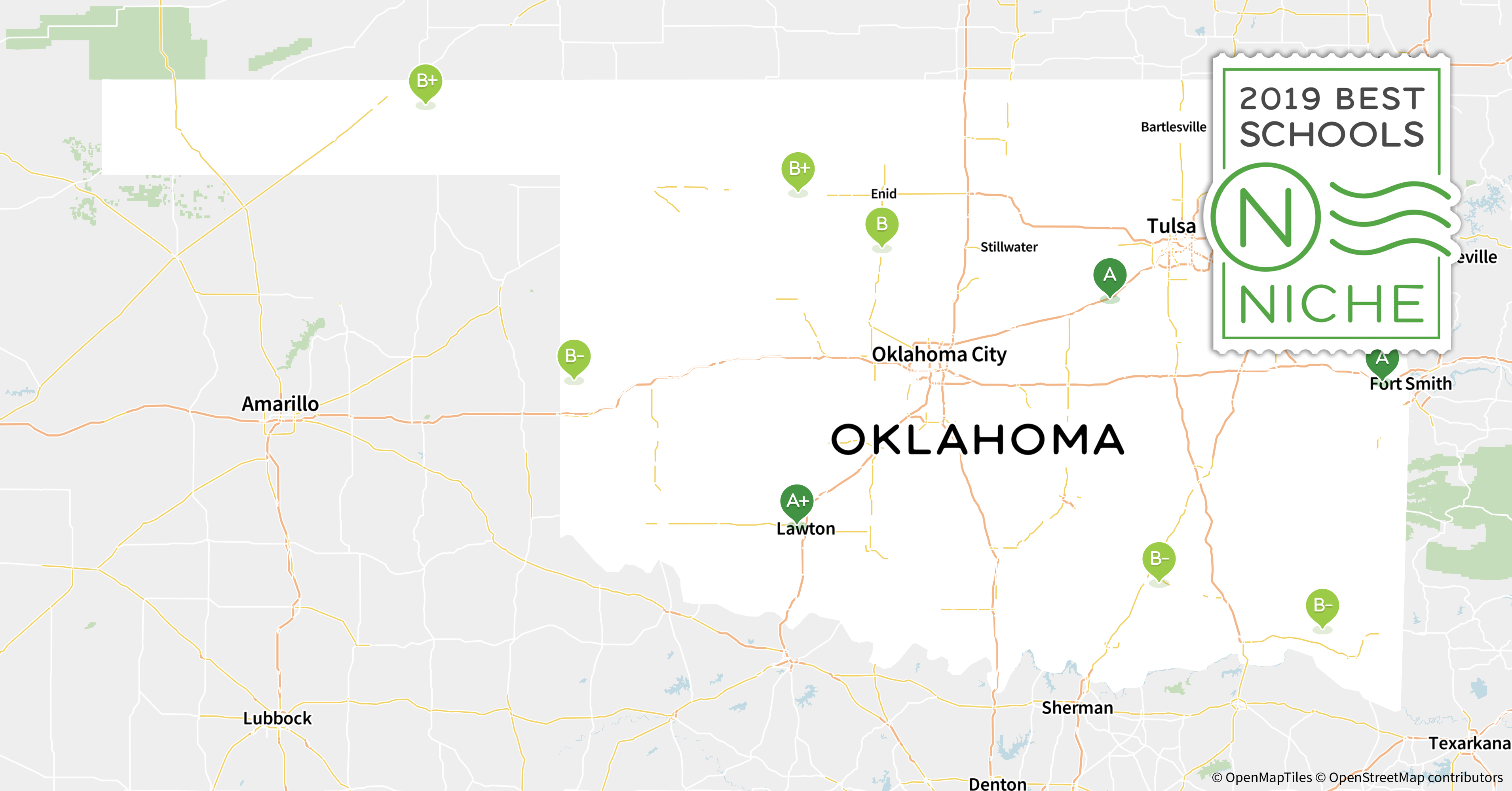 Ada Ok Zip Code Map.2019 Best School Districts In Oklahoma Niche