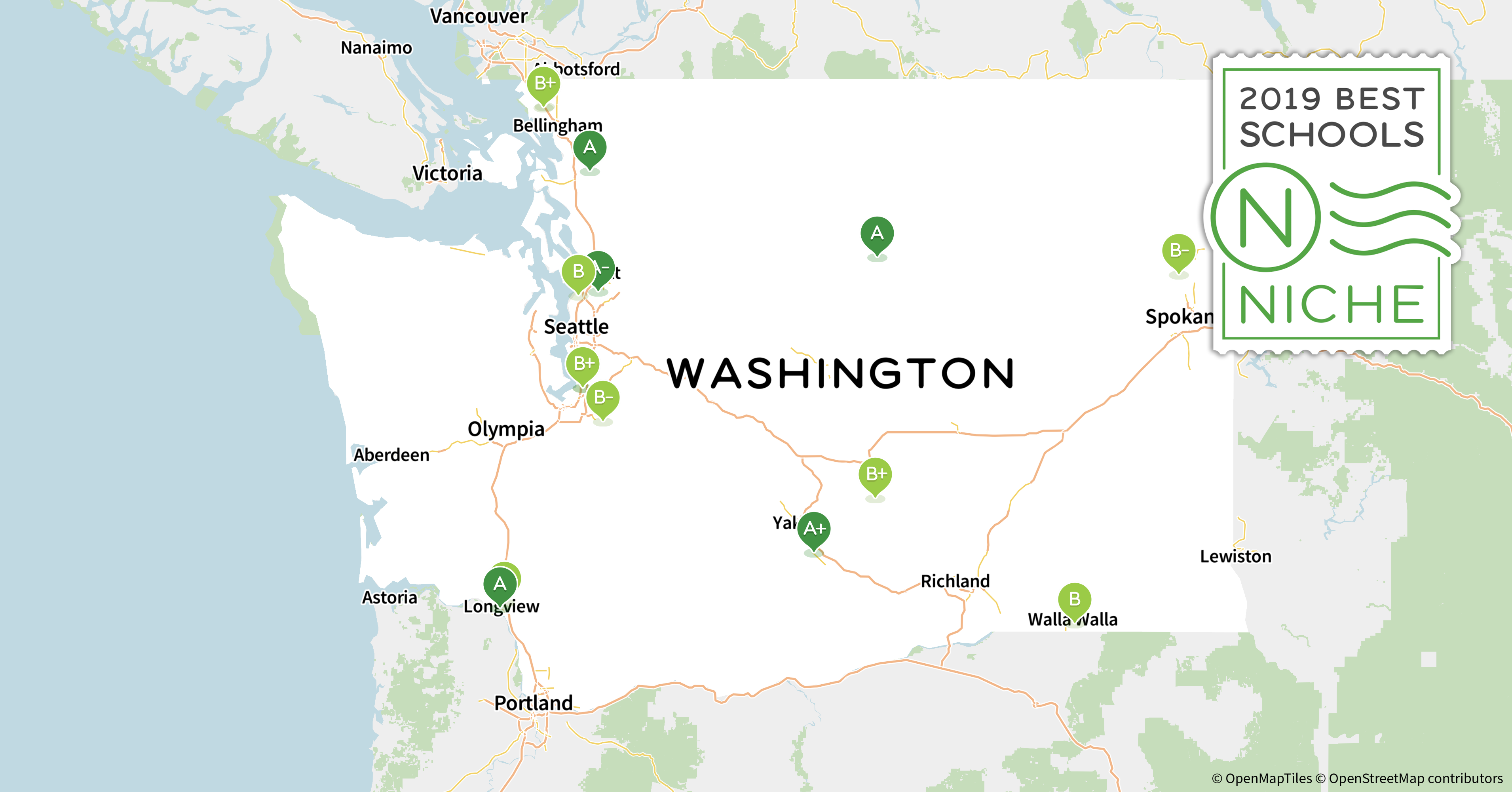 Redmond Wa Zip Code Map.2019 Best School Districts In Washington Niche