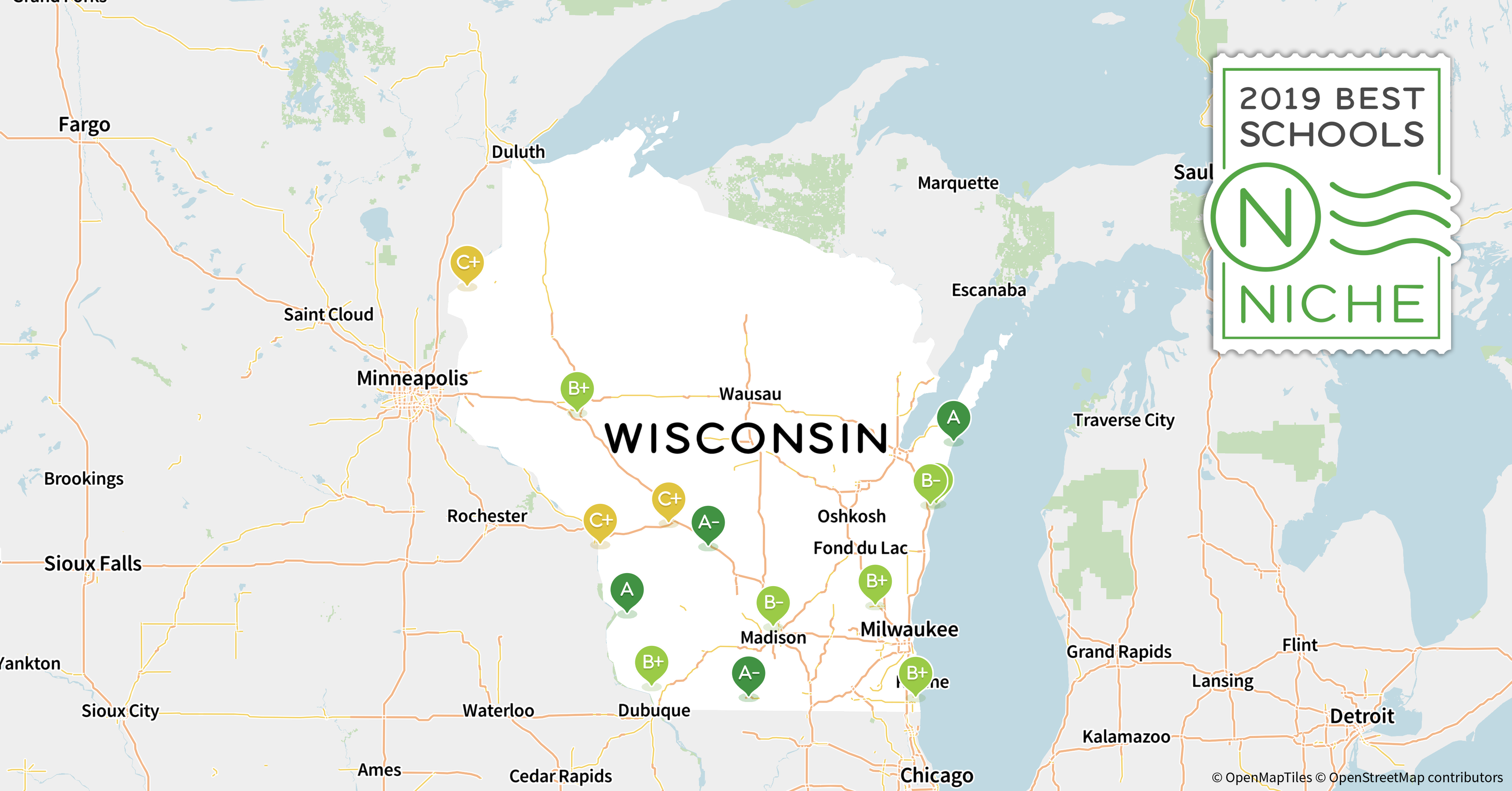 Green Bay Wi Zip Code Map.2019 Best School Districts In Wisconsin Niche