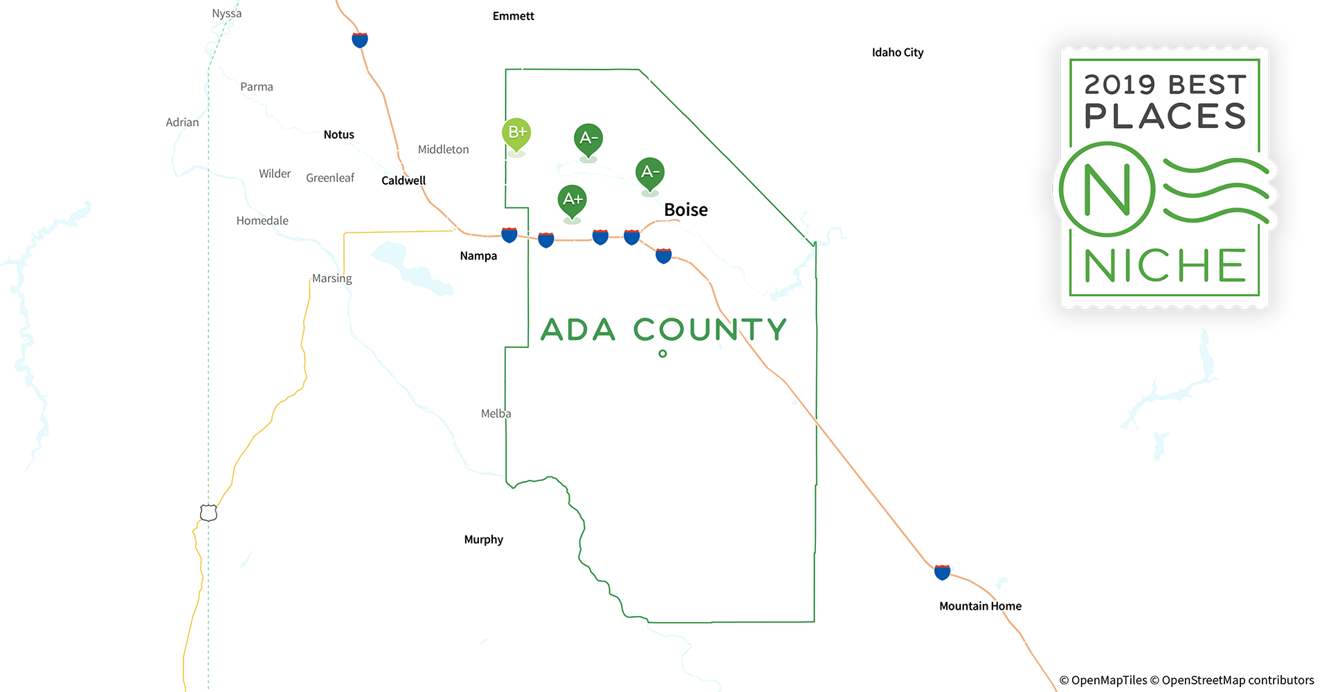 2019 Best Places to Live in Ada County, ID - Niche Map Of Ada County Idaho on