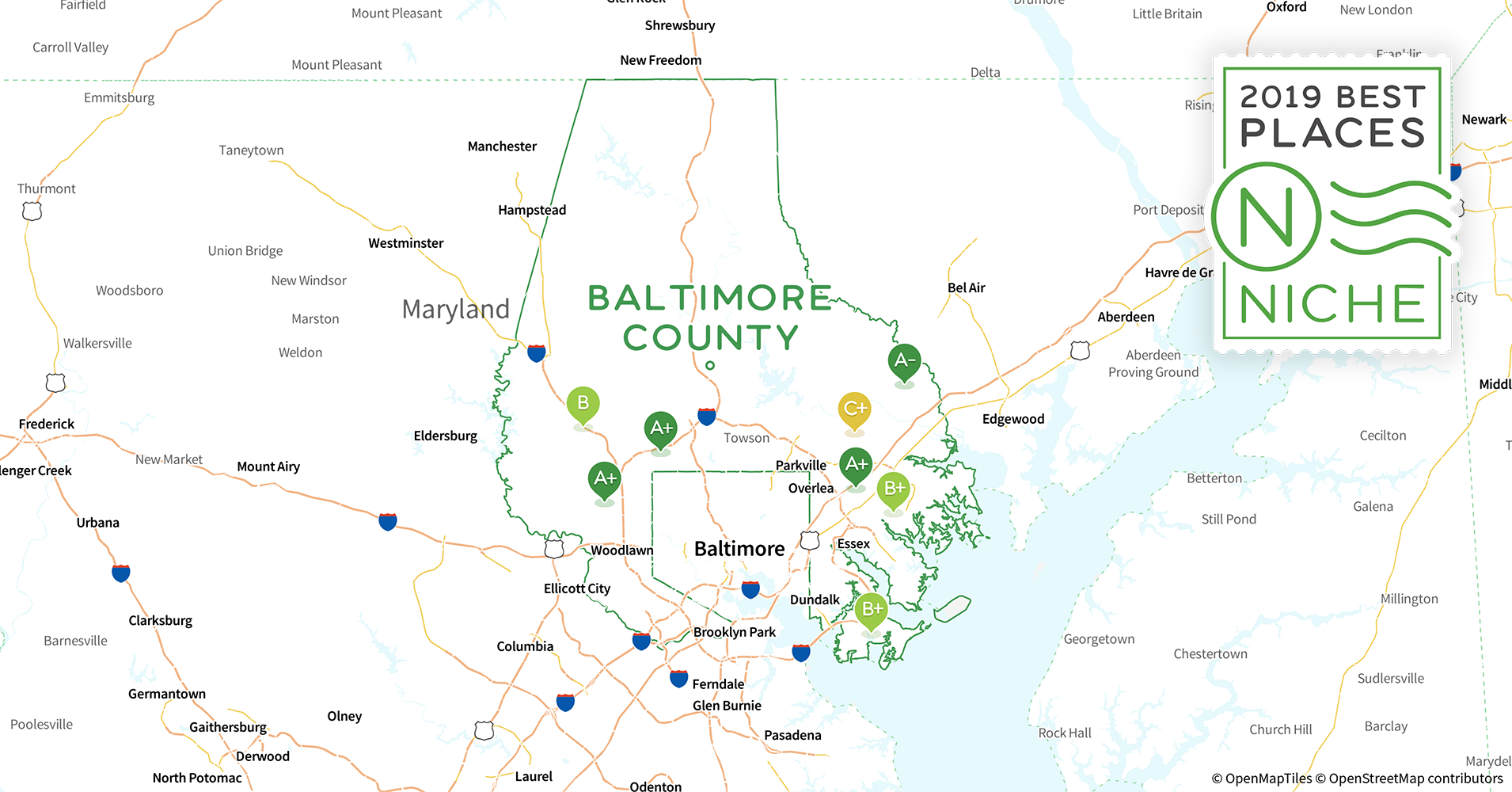 Baltimore City County, MD Zip Code Maps (Basic Style)  |Baltimore County Zip Codes