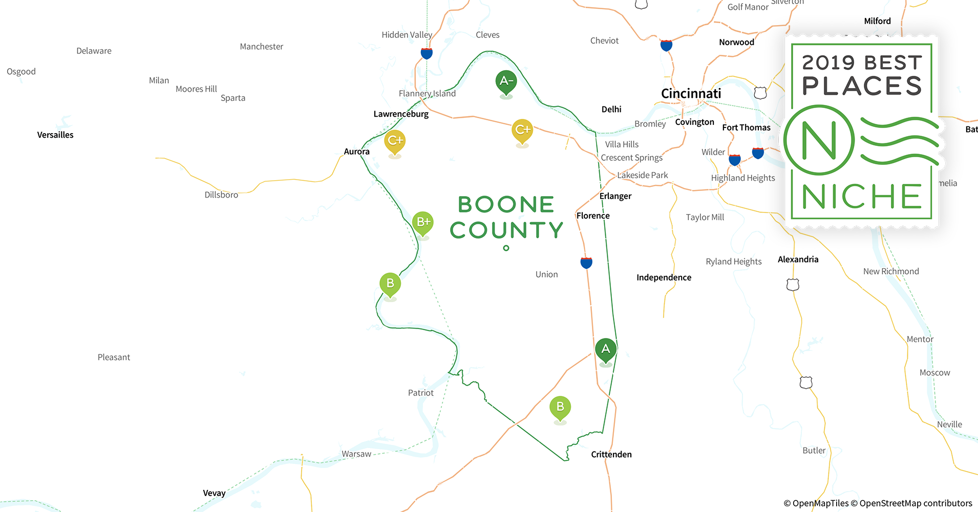 2019 Best Places To Live In Boone County Ky Niche - Hebron-ky-us-map