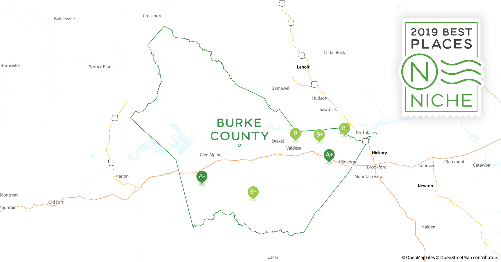 2019 Best Places To Live In Burke County Nc Niche