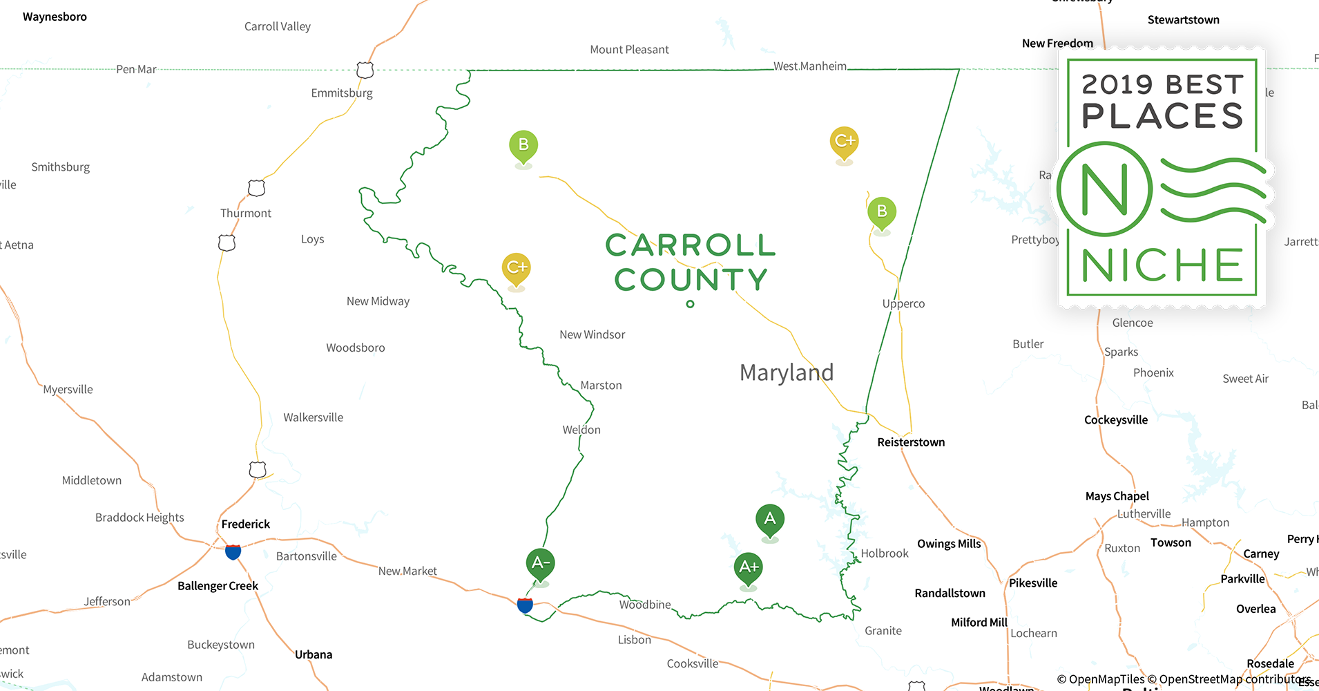 on carroll community college map
