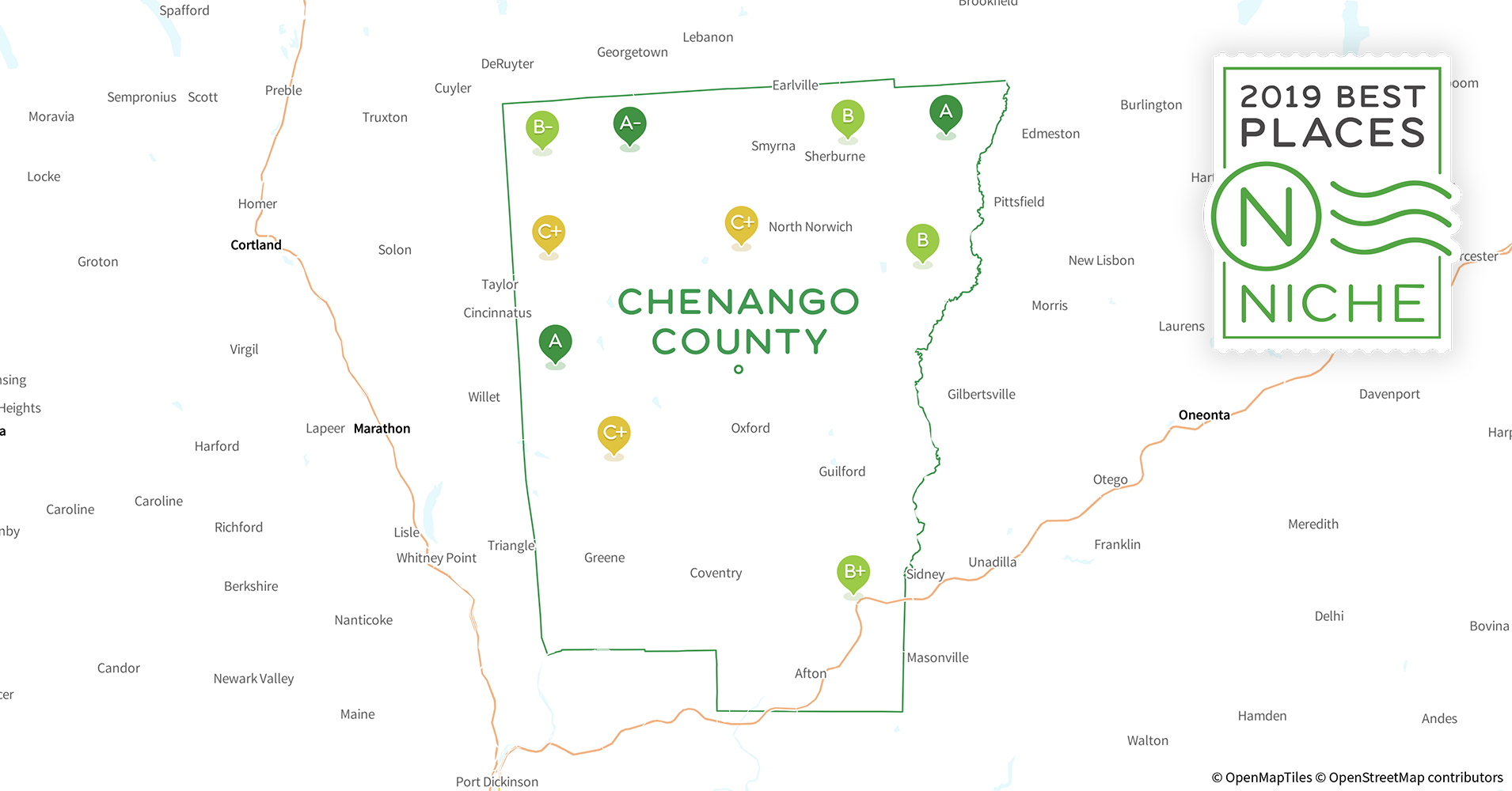 2019 Best Places to Buy a House in Chenango County, NY - Niche Chenango County Tax Maps on