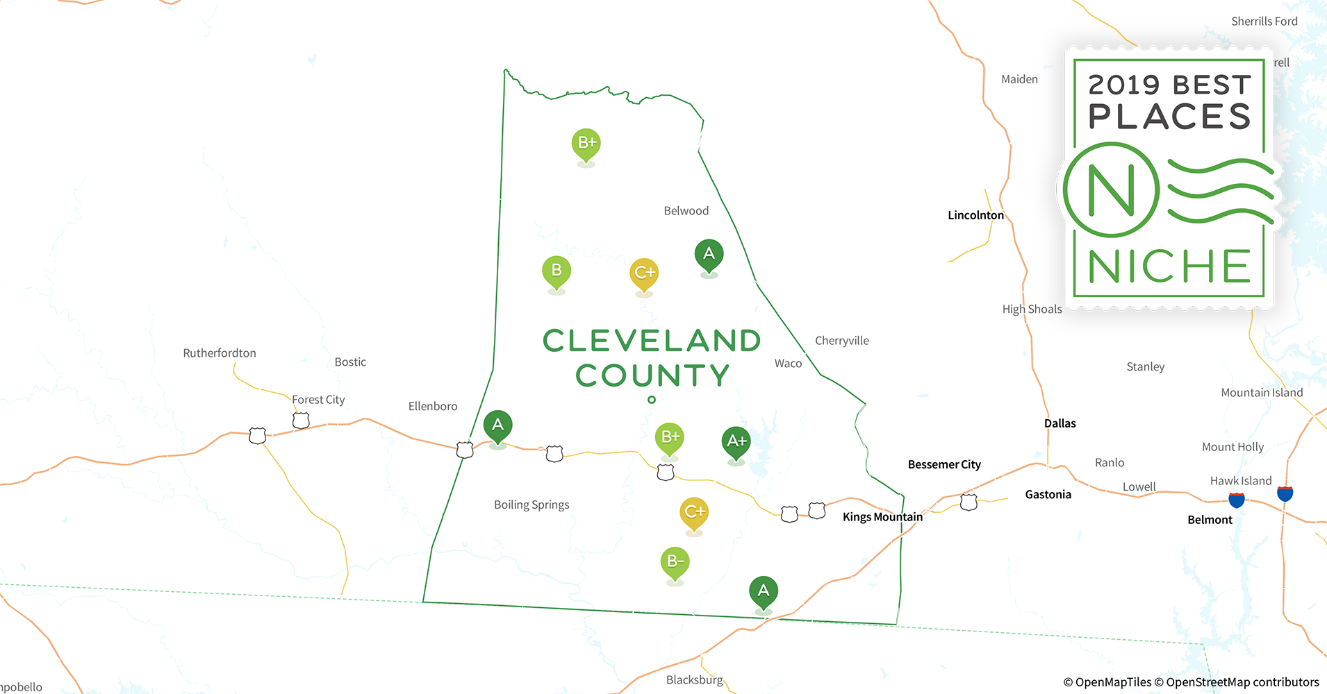 2019 Safe Places to Live in Cleveland County, NC - Niche Cleveland County Nc Map on chester county nc map, united states nc map, lee county nc map, ranlo nc map, burke county, lumberton nc map, kings mountain, lincoln county, roanoke county nc map, kings mountain nc map, real estate charlotte nc map, martin county, bowman county north dakota map, lawndale nc map, rowan county, warren nc map, large nc county map, cabarrus county, roanoke rapids, gaston county, yadkin river nc map, union county, iredell north carolina zip code map, henderson county, north carolina and virginia county map, buncombe county, cherokee county, burke co nc map, wake county nc map, rutherford county, wrightsville nc map, washington county, sampson county nc map, polk county, clay county, columbia county nc map,