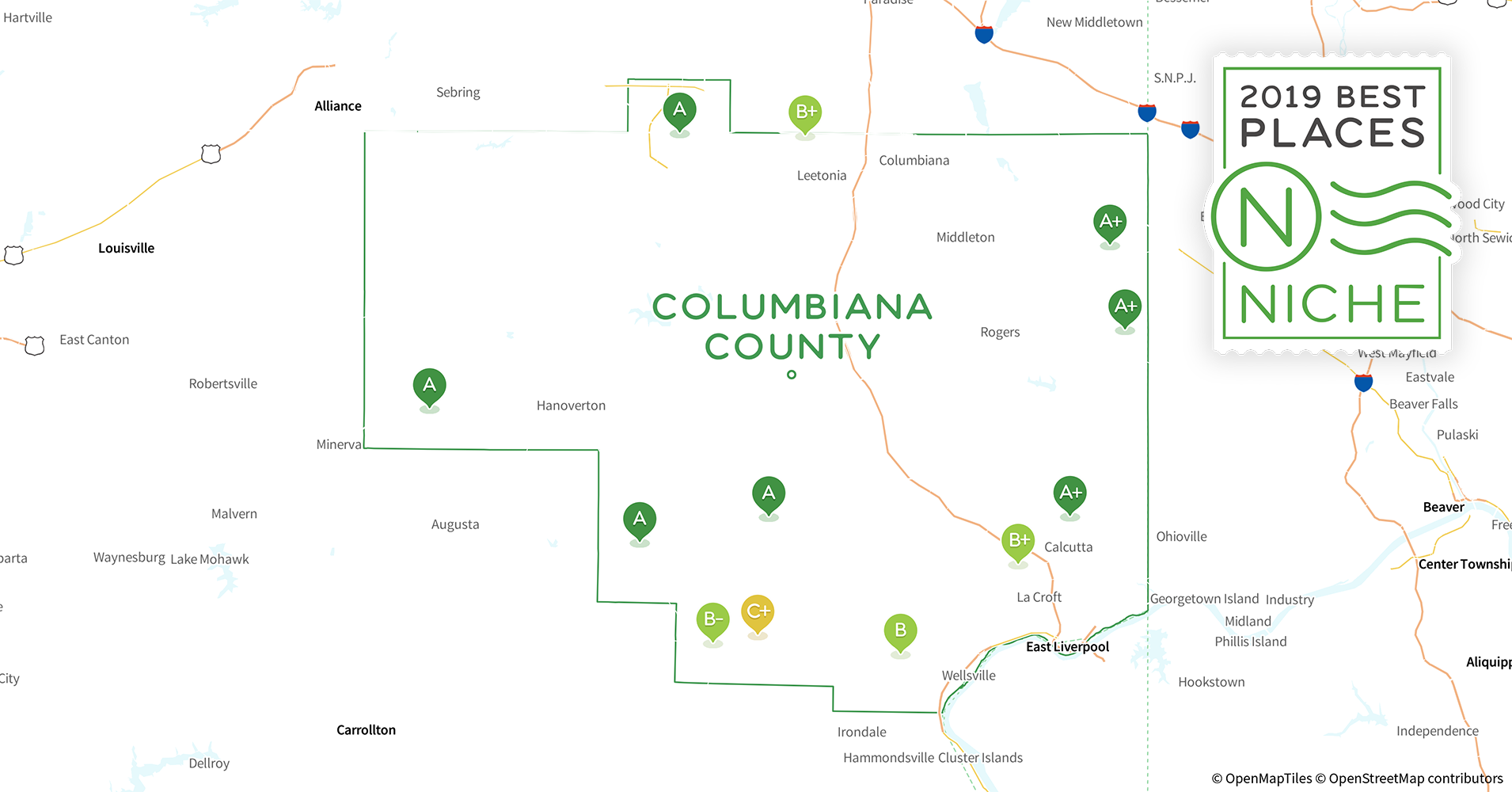 2019 Best Places To Live In Columbiana County Oh Niche