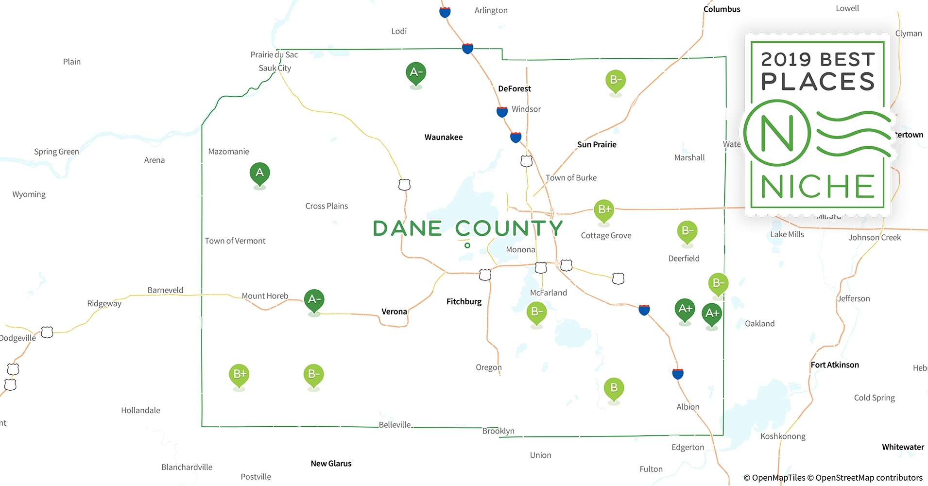 2019 Best Places To Live In Dane County Wi Niche