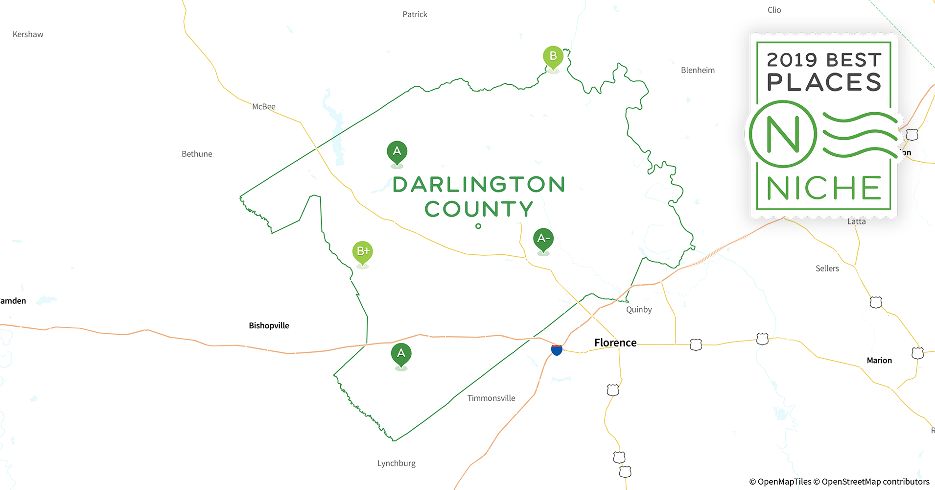2019 Best Places to Live in Darlington County, SC - Niche Darlington County Tax Map on