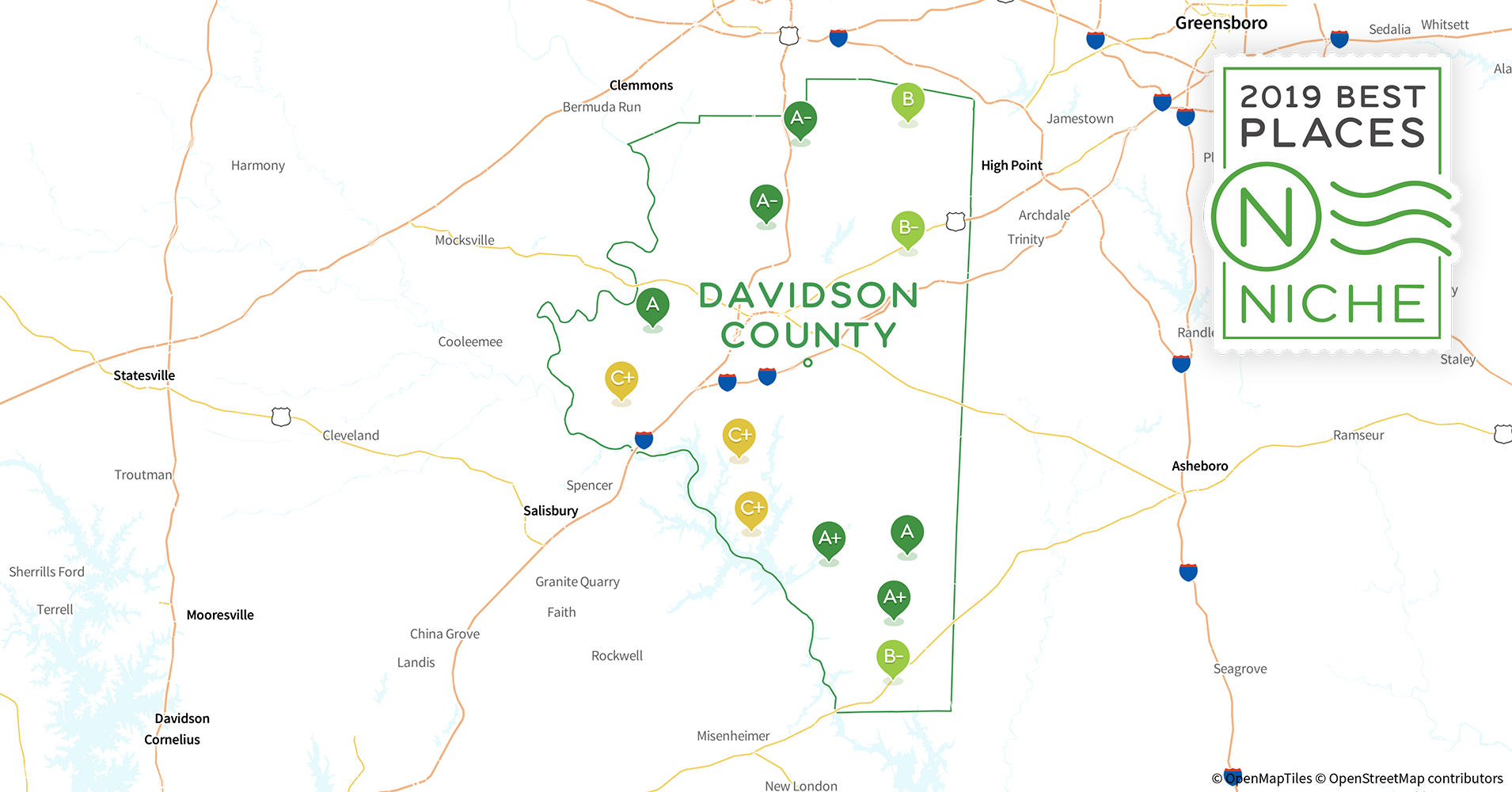 2019 Best Places To Live In Davidson County Nc Niche