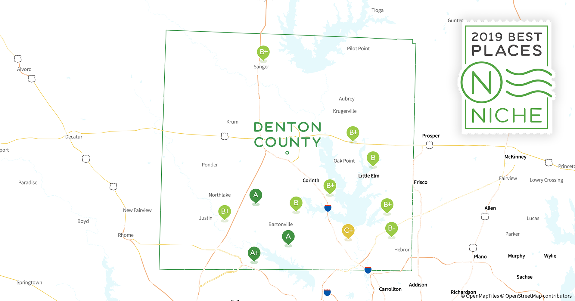 Lewisville Tx Zip Code Map.2019 Best Places To Live In Denton County Tx Niche