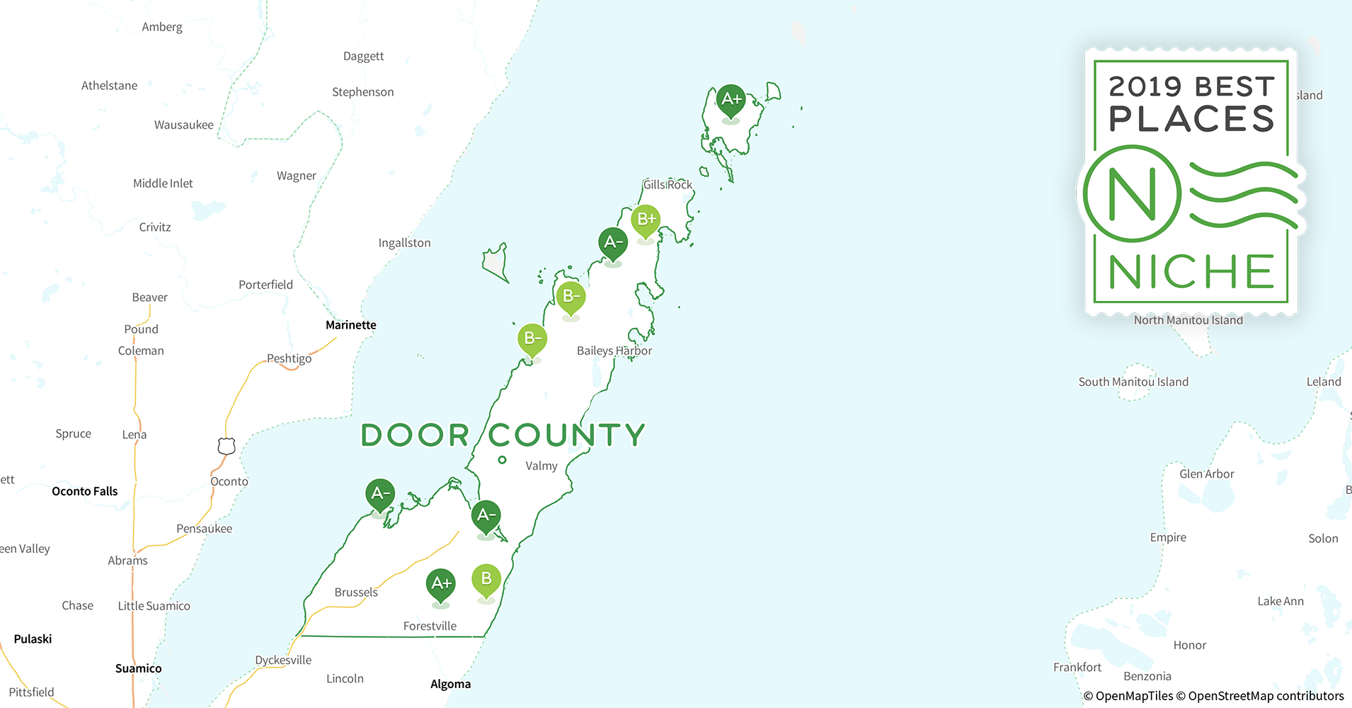 2019 Best Places to Live in Door County, WI - Niche Door County Wi Map Of Districts on map of peninsula state park wi, map of castle rock lake wi, map of lakewood wi, map of black river falls wi, map of apostle islands wi, map of city of madison wi, map of liberty grove wi, map of beloit wi, map of racine wi, map of green bay wi, map of washington island wi, map of algoma wi, map of baileys harbor wi, map of jacksonport wi, map of wisconsin, map of the fox valley wi, map of menomonie wi, map of ohio by county, map of de soto wi,