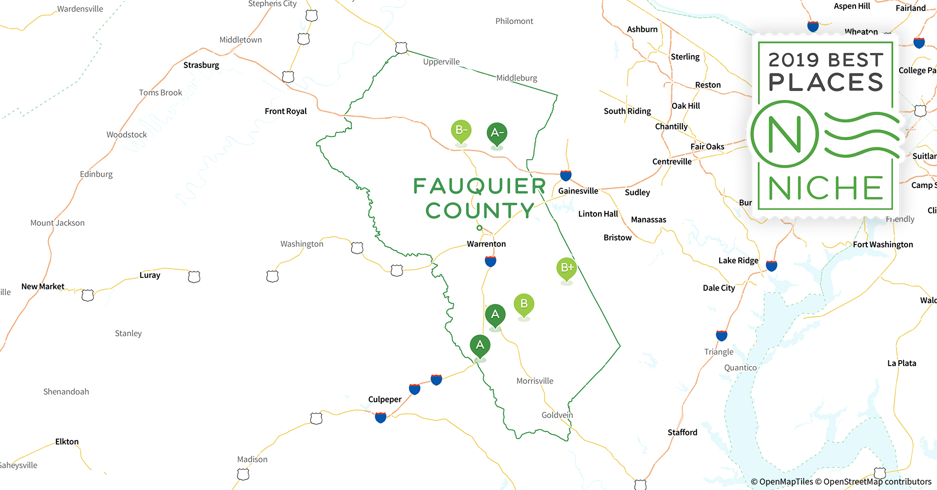 2019 Best Places to Live in Fauquier County, VA - Niche Map Of Fauquier County Va on