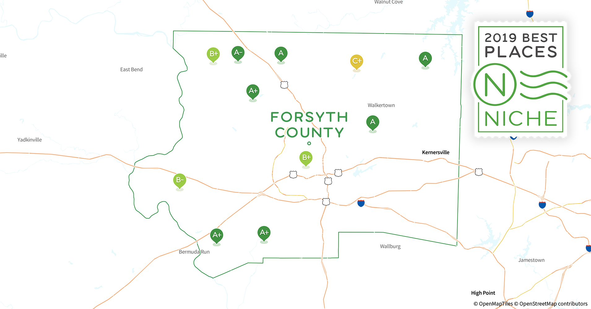 2019 Best Places to Live in Forsyth County, NC - Niche
