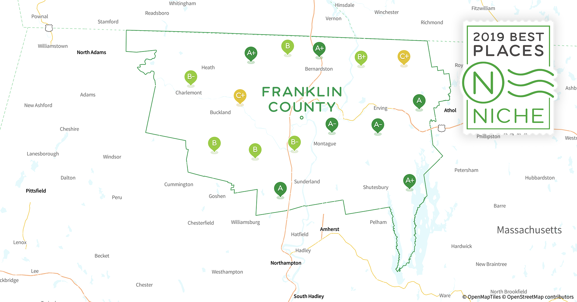 2019 Best Places to Live in Franklin County, MA - Niche