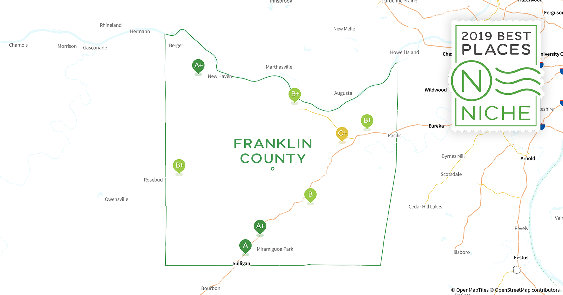 2019 best places to live in franklin county  mo