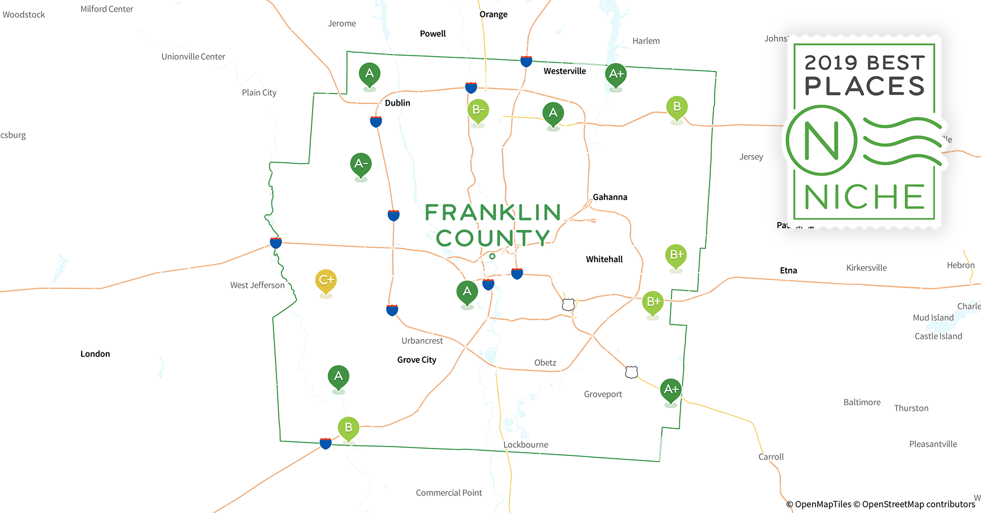 2019 Safe Places to Live in Franklin County, OH - Niche Zip Code Map Columbus Ohio Murders on cleveland tn zip codes map, ohio on us map, columbus ohio atlas, columbus ohio counties by zip, columbus ohio area code, columbus ohio region map, columbus mississppi map, columbus ohio phone map, columbus ohio home, columbus ohio zip code chart, columbus ohio school map, columbus ohio on map, ohio hilliard subdivisions map, 254 area code cities map, columbus ohio hoover reservoir lake map, columbus indiana people trail map, columbus zip code list, columbus water plant map, columbus transit map, columbus ohio expo center map,