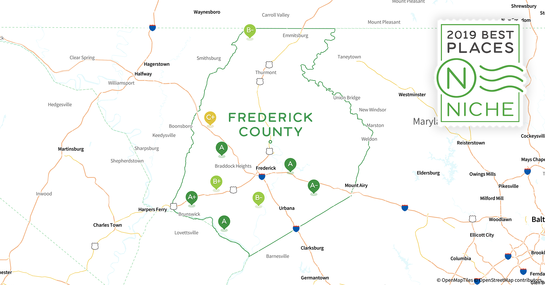 Frederick County Md Zip Code Map.2019 Best Places To Live In Frederick County Md Niche