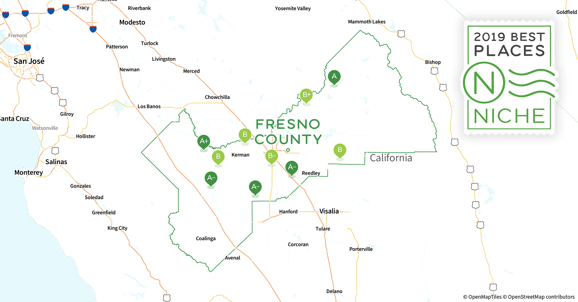Clovis Ca Zip Code Map.2019 Best Places To Raise A Family In Fresno County Ca Niche