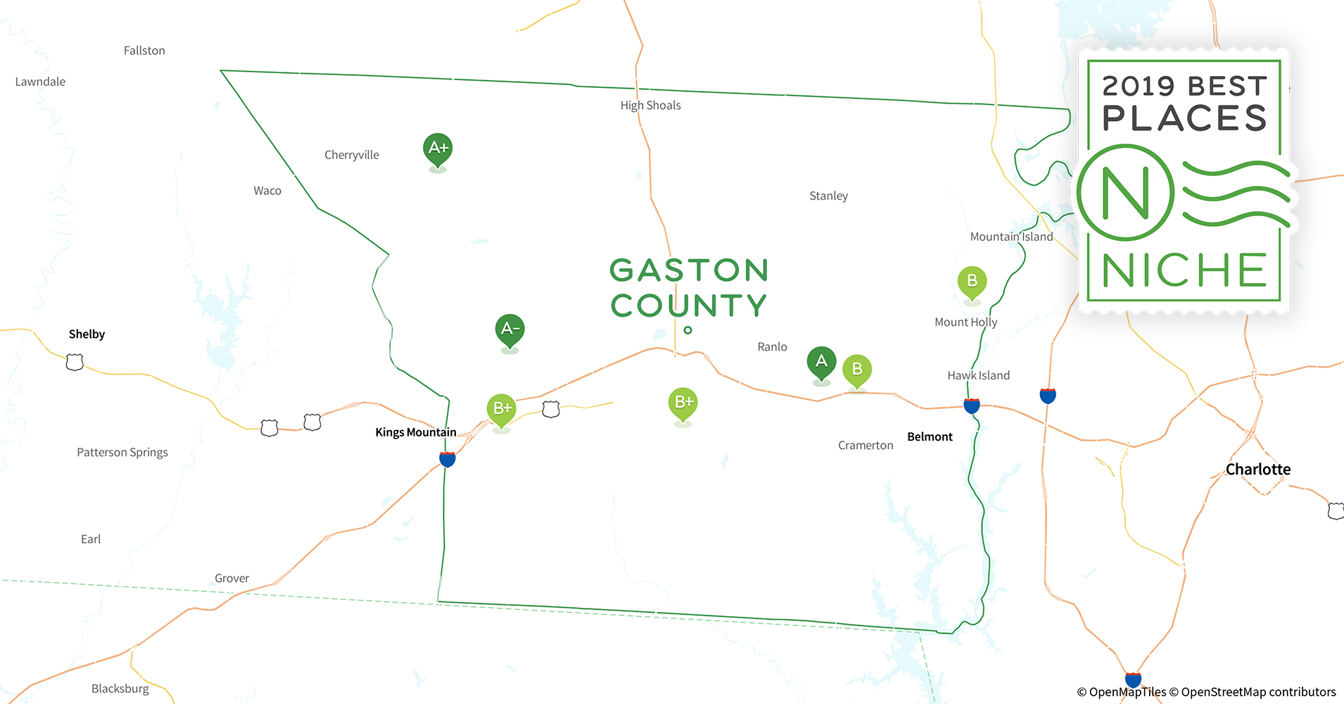 2019 Best Places to Live in Gaston County, NC - Niche Gaston County Nc Map on mecklenburg nc map, gastonia nc map, ranlo nc map, north carolina nc map, mountain view nc map, albemarle nc map, north carolina river basin map, pickens county sc map, mooresville nc map, yadkin river nc map, mountain island lake nc map, wadesboro nc map, lake gaston map, gastonia north carolina map, hidden valley nc map, united states nc map, charlotte nc city limits map, gastonia city map, belmont north carolina map, southwest charlotte nc map,