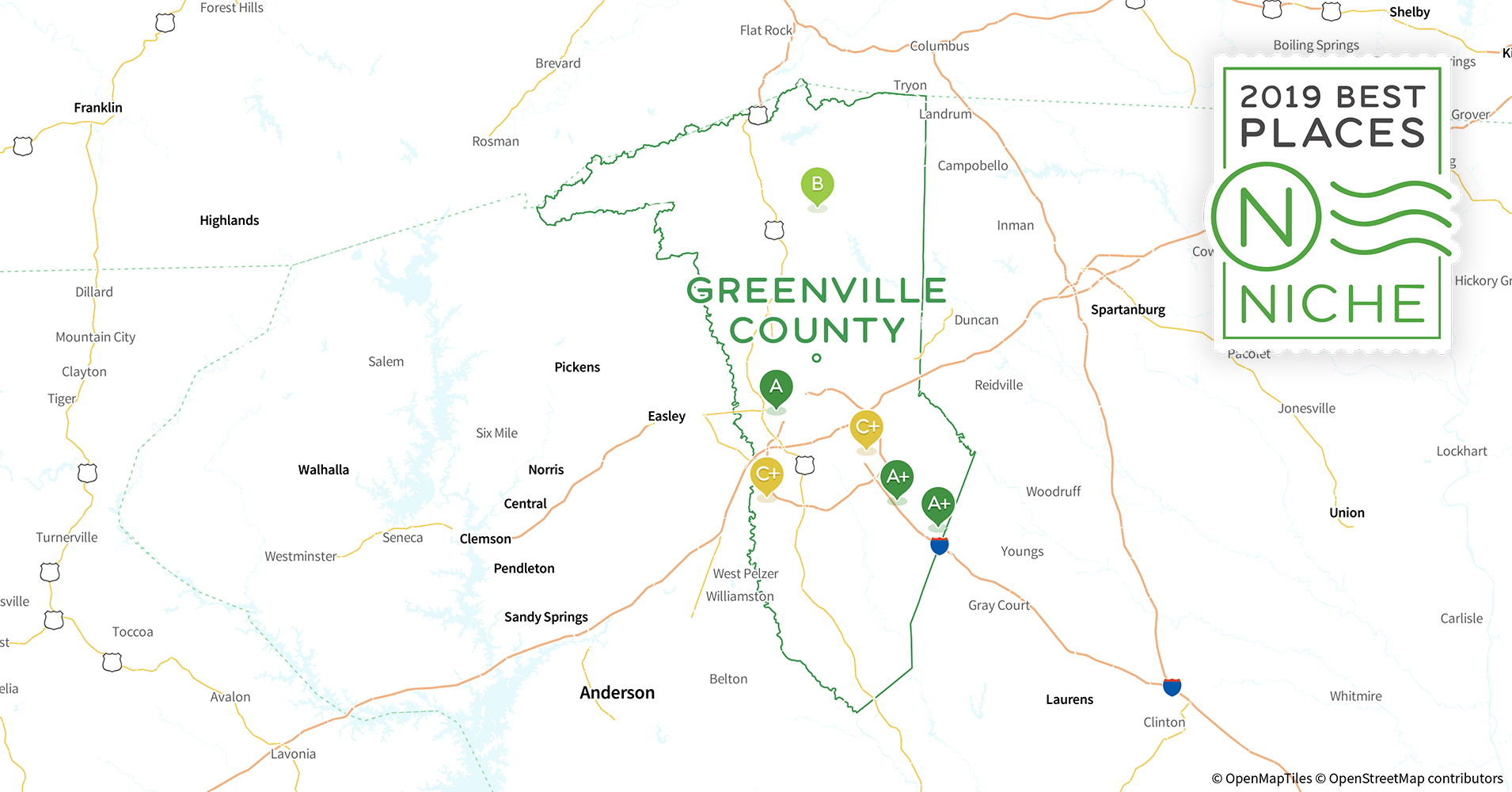 Greer Sc Zip Code Map.2019 Best Places To Live In Greenville County Sc Niche