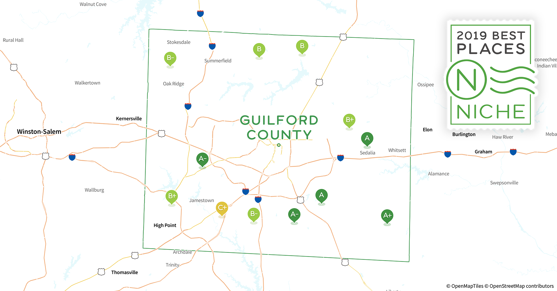 2019 Best Places To Live In Guilford County Nc Niche