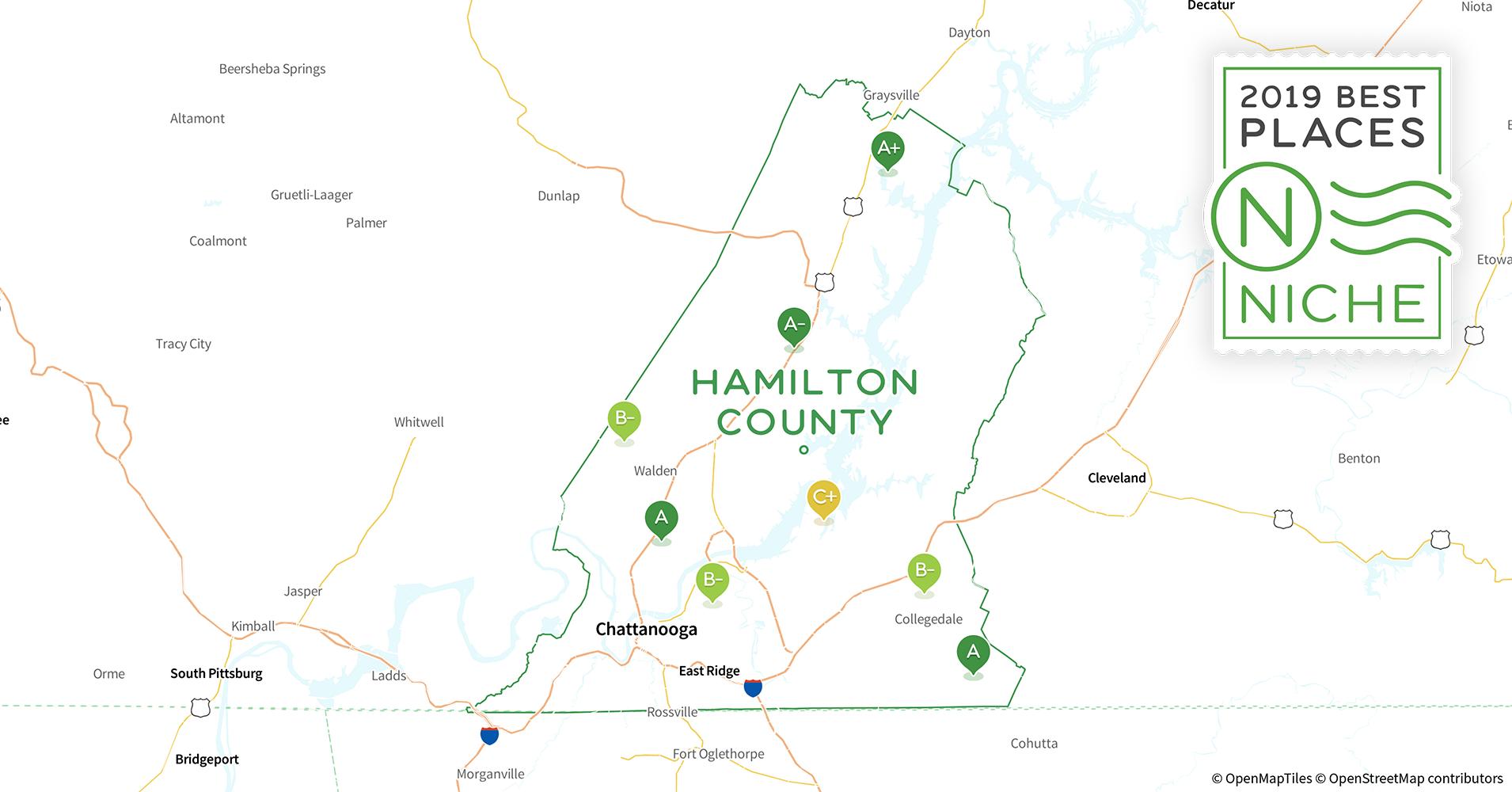 Hamilton County Ohio Zip Code Map.2019 Safe Places To Live In Hamilton County Tn Niche