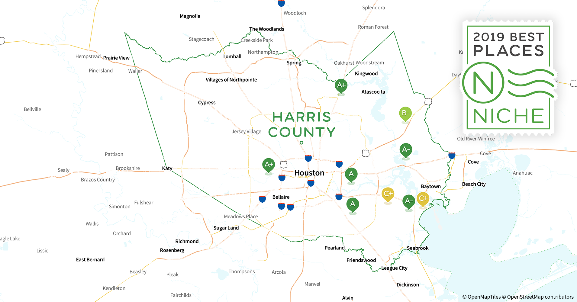 2019 Best Places to Live in Harris County, TX - Niche Harris County Crime Map on