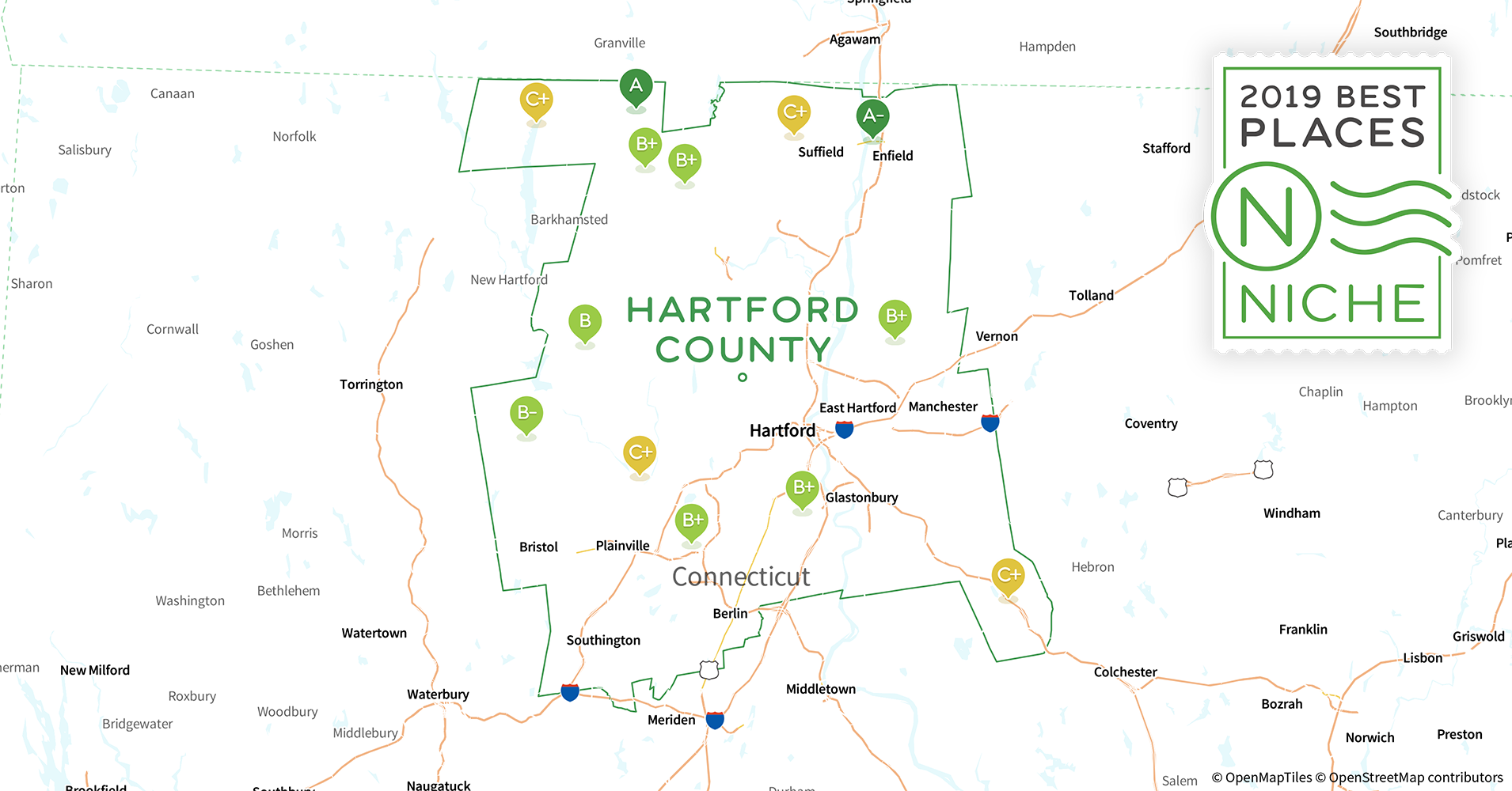 2019 Best Places to Live in Hartford County, CT - Niche