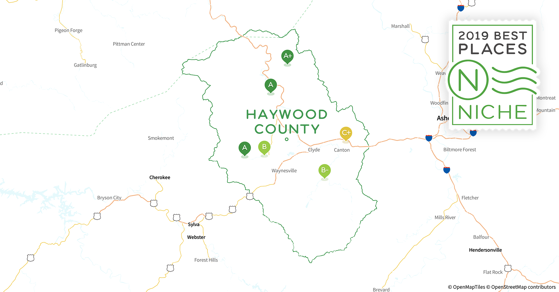 Haywood County Nc Map.2019 Best Places To Live In Haywood County Nc Niche
