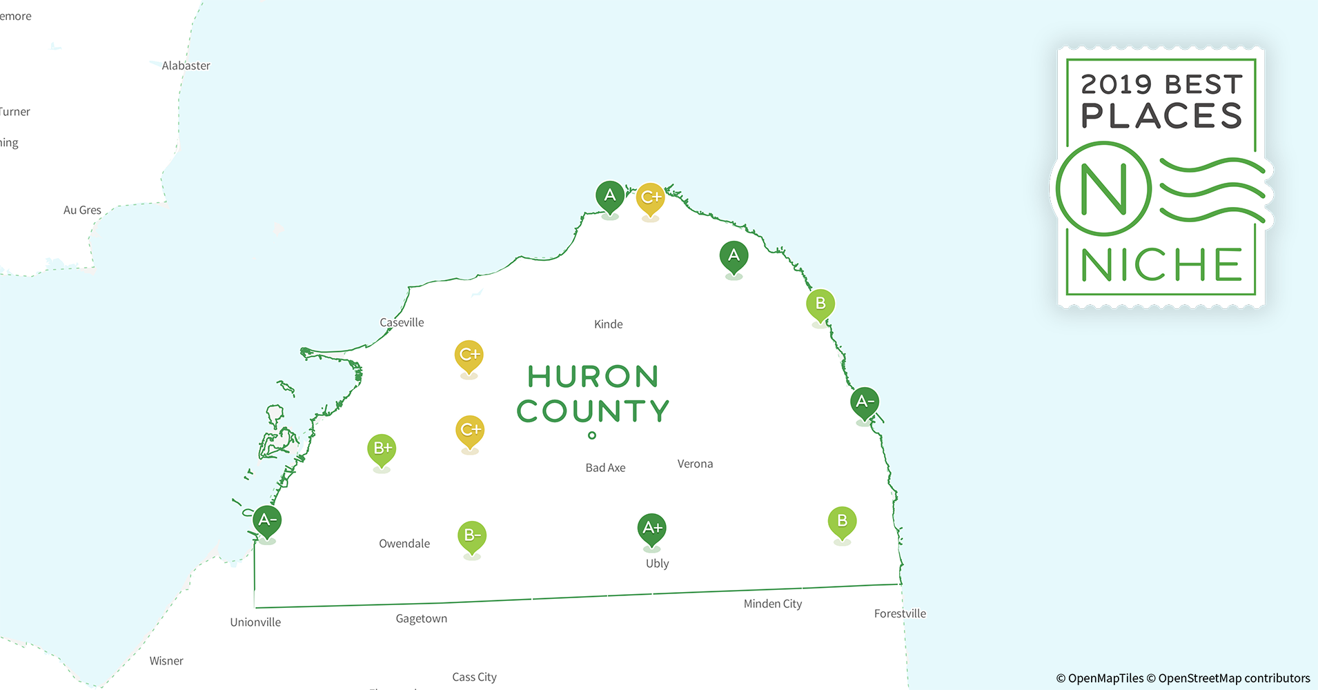 2019 Best Places to Retire in Huron County, MI - Niche Caseville Michigan Map With Street Names Of on