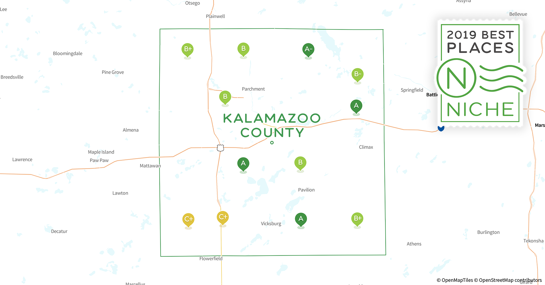 2019 Safe Places to Live in Kalamazoo County, MI - Niche