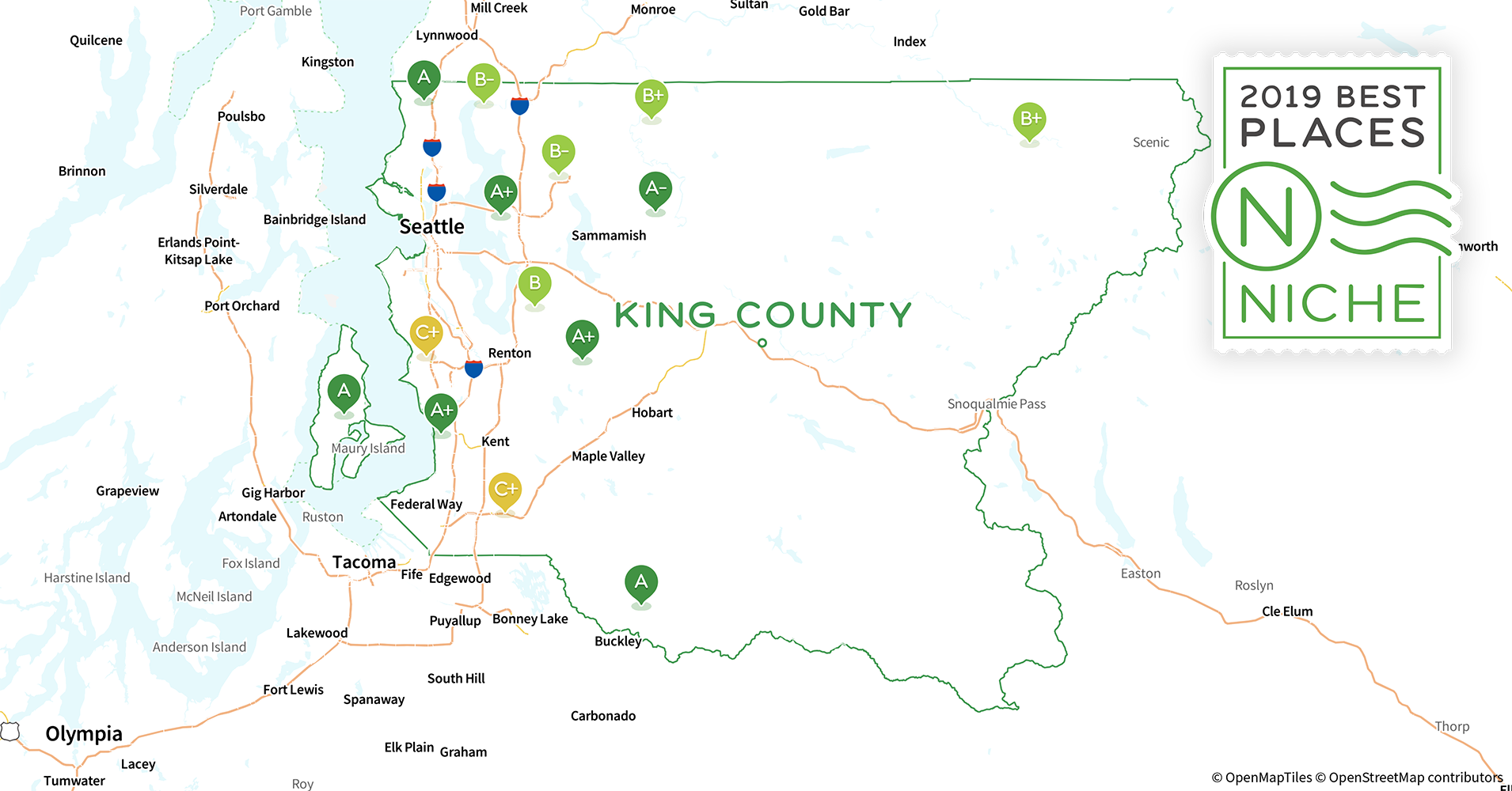 2019 Safe Places to Live in King County, WA - Niche King County Washington State Map on everett washington state map, tukwila washington state map, grays harbor county washington state map, ferry county washington state map, richland washington state map, deception pass washington state map, covington washington state map, port angeles washington state map, federal way washington state map, aberdeen washington state map, mount rainier washington state map, douglas county washington state map, united states washington state map, chinook pass washington state map, island county washington state map, jefferson county washington state map, cheney washington state map, washington wa state counties map, washington state forest lands map, kitsap county washington state map,