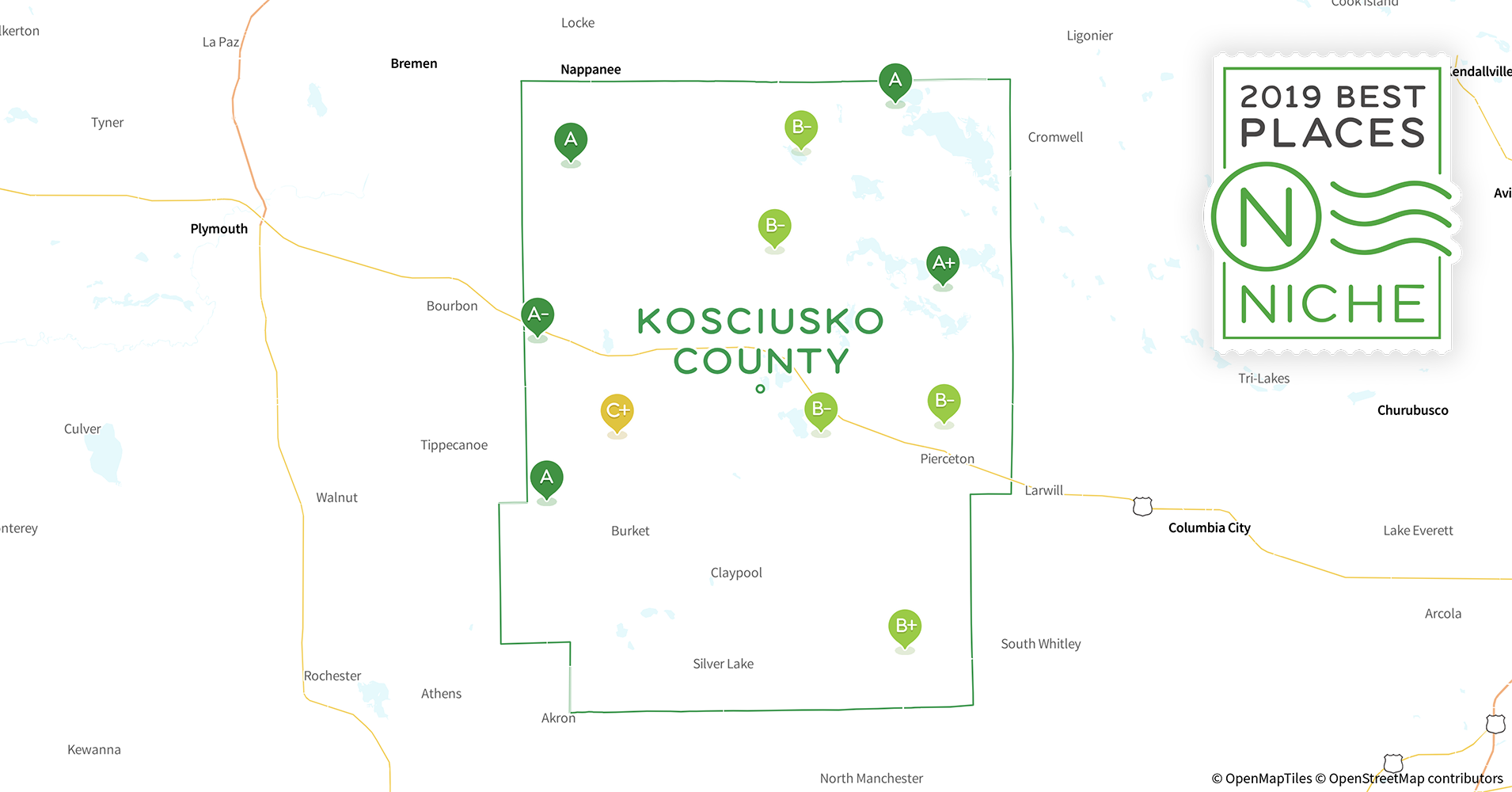 2019 Best Places to Live in Kosciusko County, IN - Niche Kosciusko Tx Map on nome tx map, beaufort tx map, natchitoches tx map, laurel tx map, olive branch tx map, oklahoma city tx map, evansville tx map, leland tx map, louisiana tx map, boston tx map, campbellsville tx map, springfield tx map, mcalester tx map, crystal springs tx map, frankfort tx map, biloxi tx map, gulfport tx map, long beach tx map, hattiesburg tx map, clay tx map,