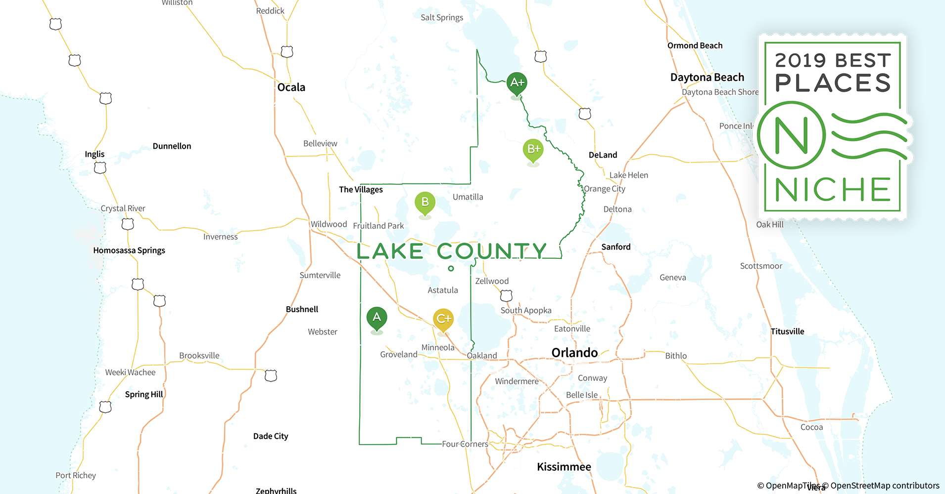 Groveland Florida Map.2019 Safe Places To Live In Lake County Fl Niche