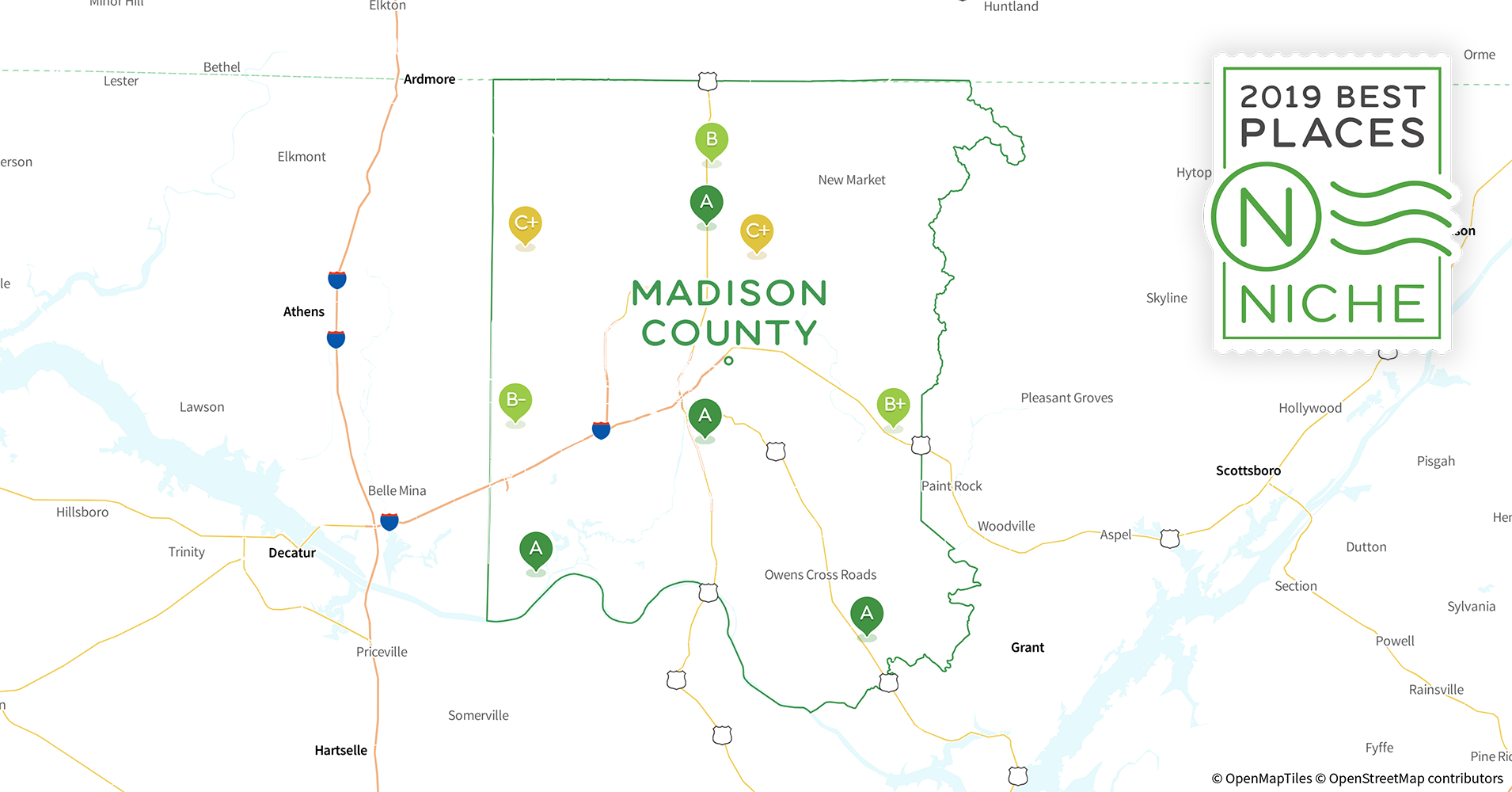 Madison Al Zip Code Map.2019 Best Places To Live In Madison County Al Niche