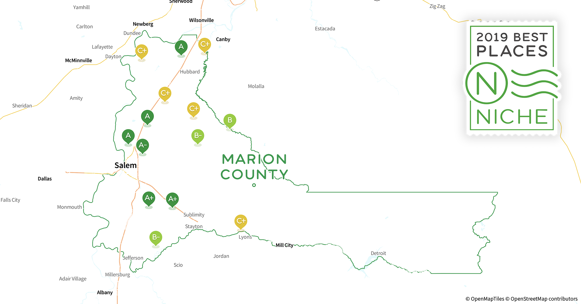 2019 Best Places To Live In Marion County Or Niche