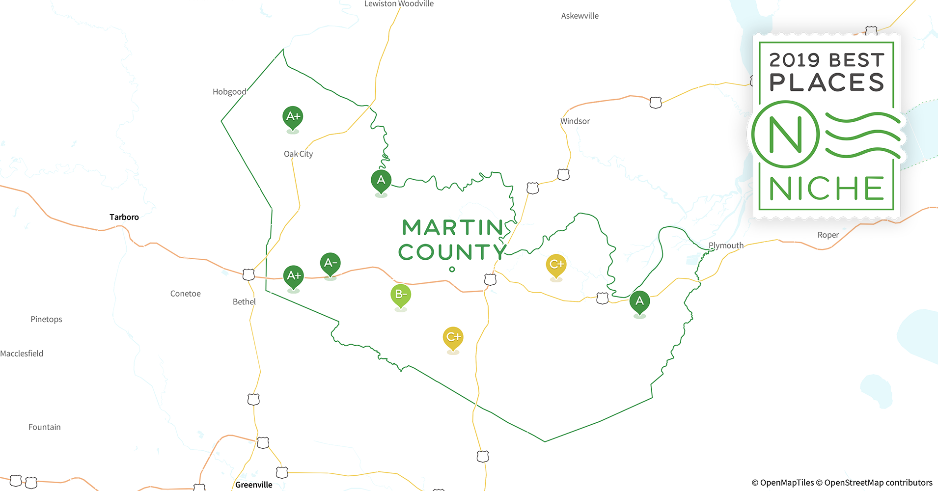 Martin County Nc Map.2019 Best Places To Live In Martin County Nc Niche