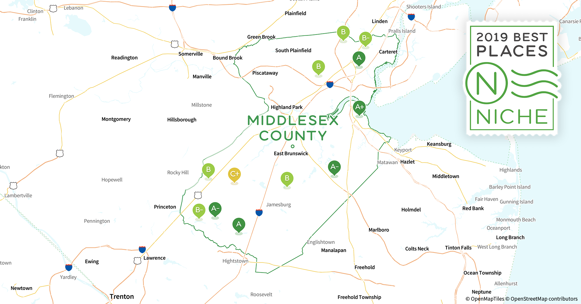 2019 Best Places To Live In Middlesex County Nj Niche
