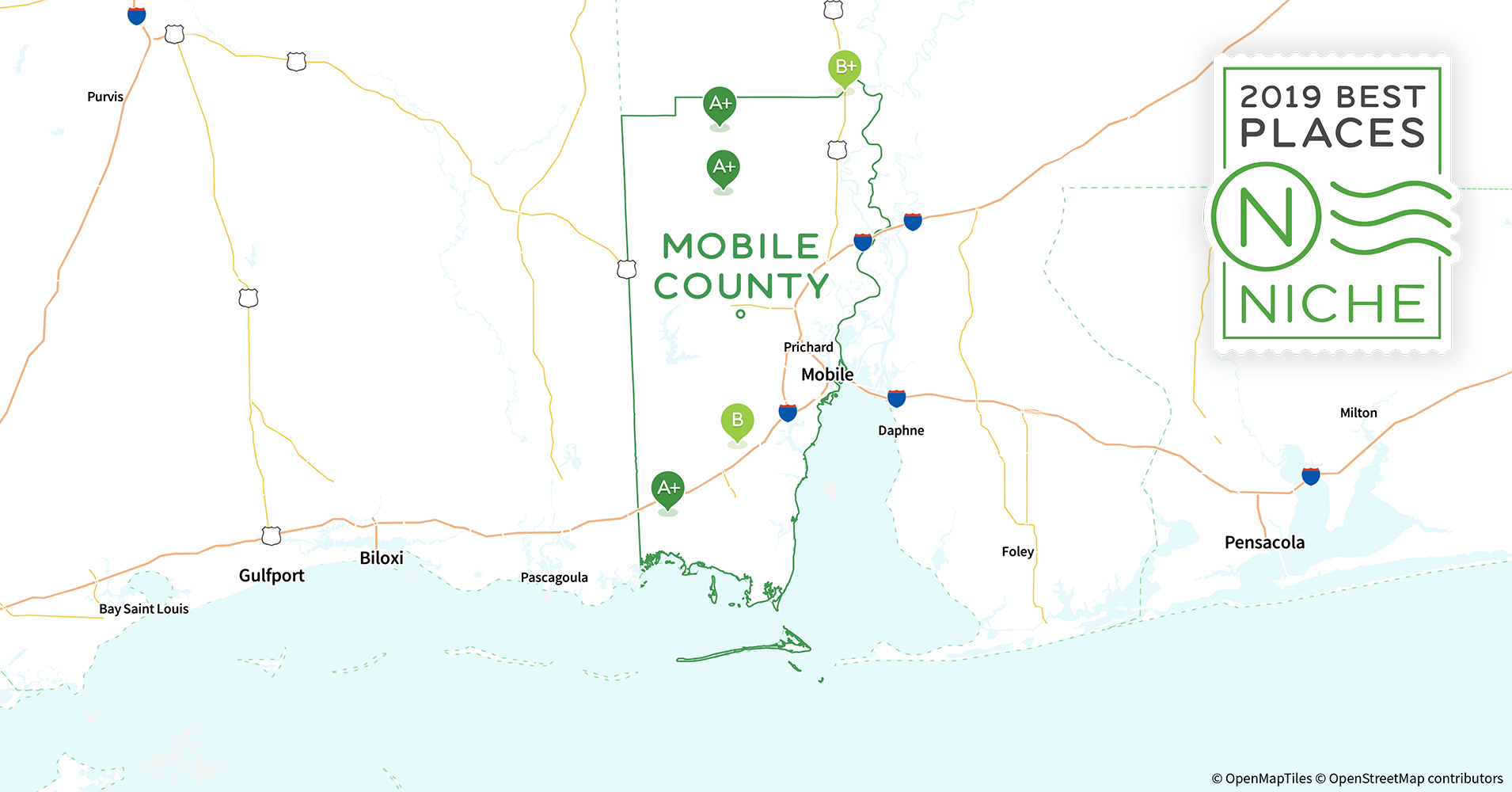 2019 Best Places to Live in Mobile County, AL - Niche