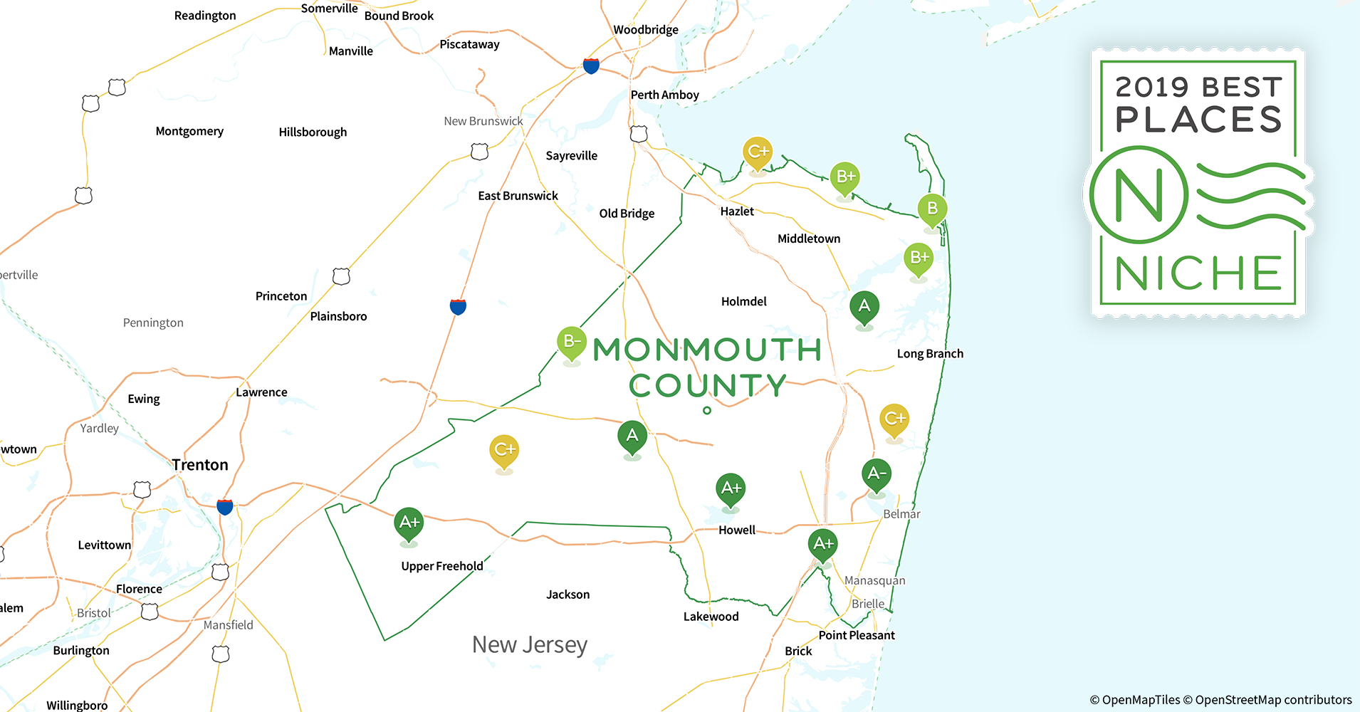 2019 Best Places to Live in Monmouth County, NJ - Niche