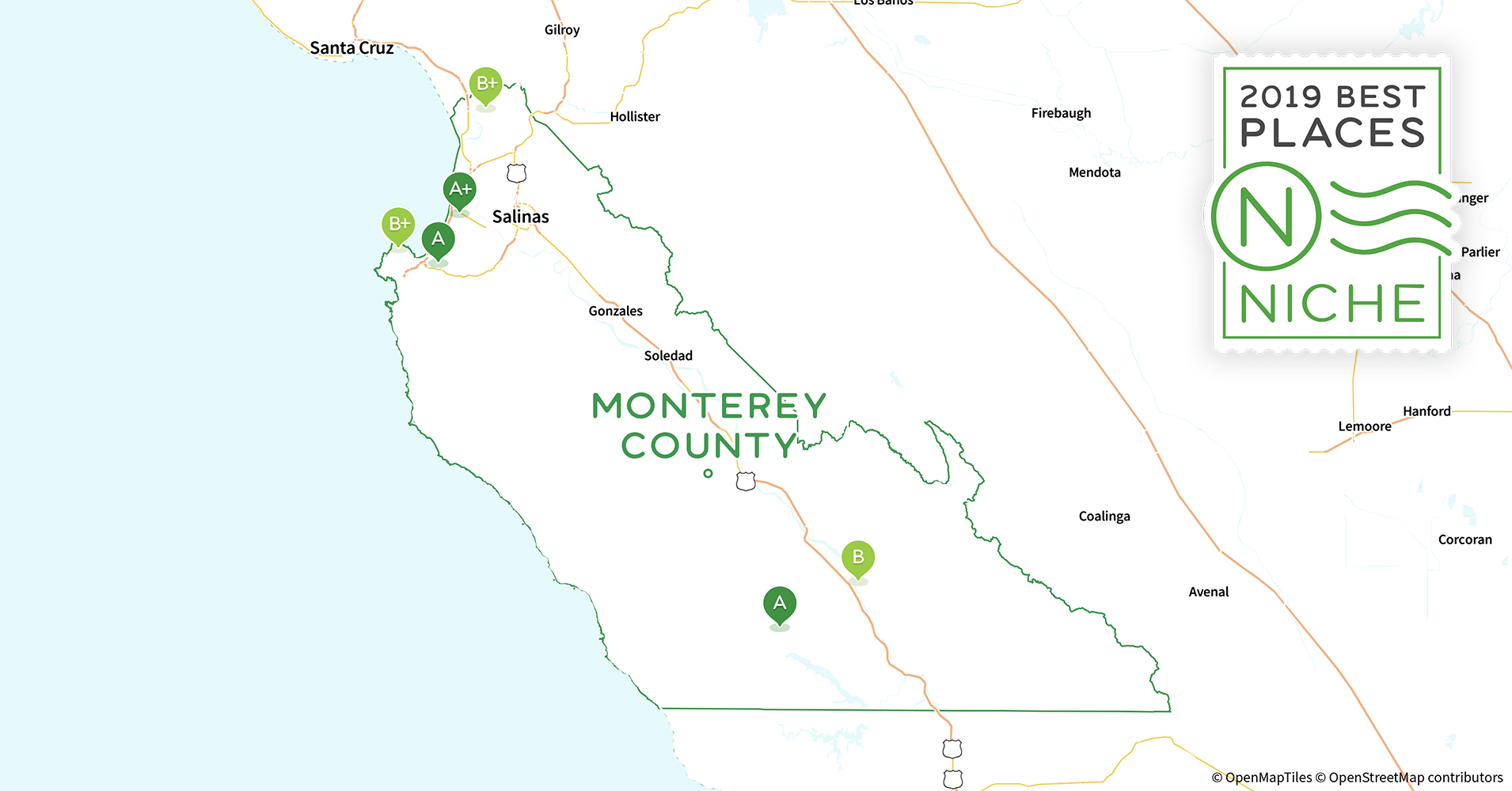 Monterey County California Map.2019 Best Places To Live In Monterey County Ca Niche