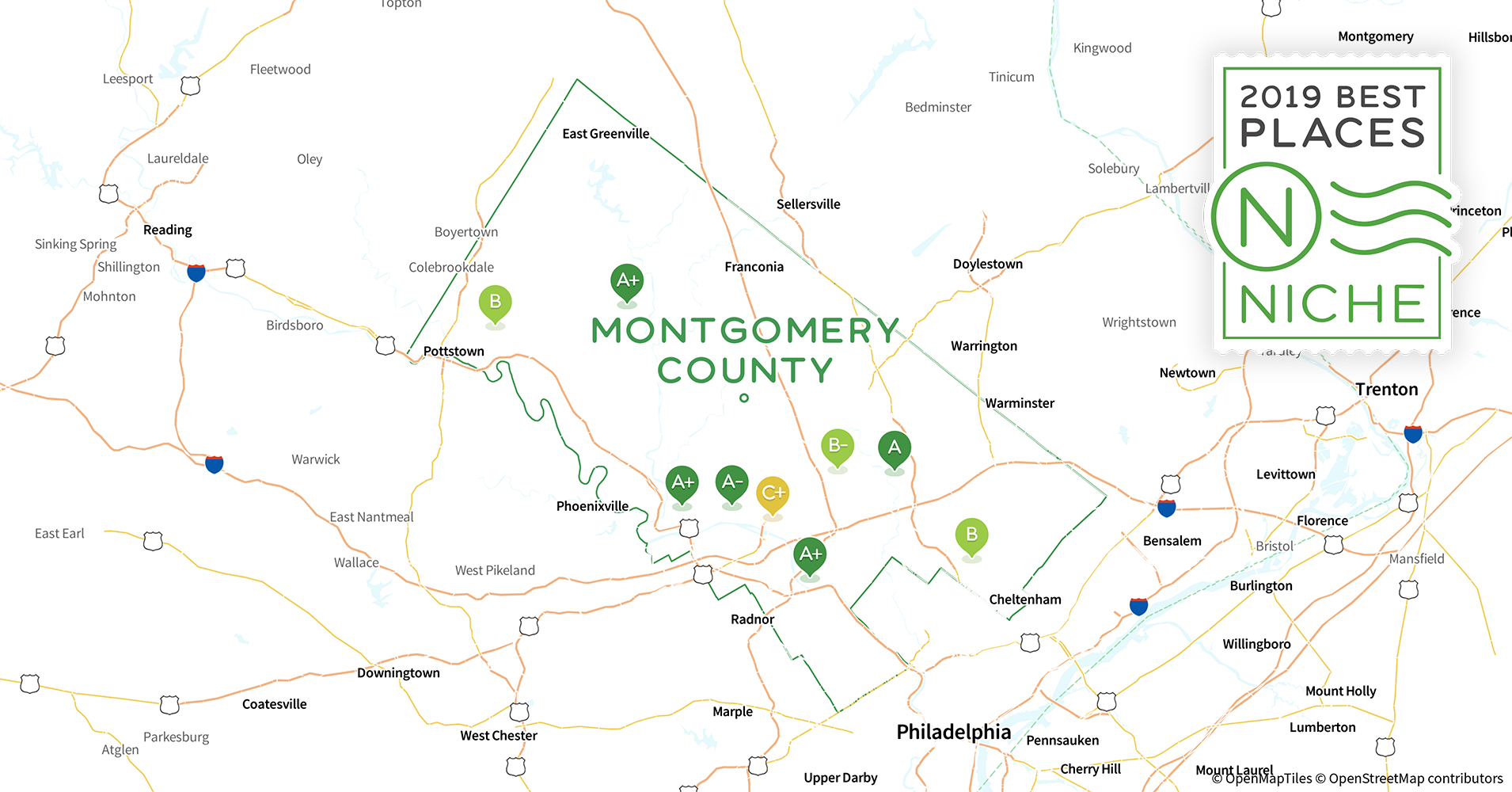 2019 Best Places to Raise a Family in Montgomery County, PA