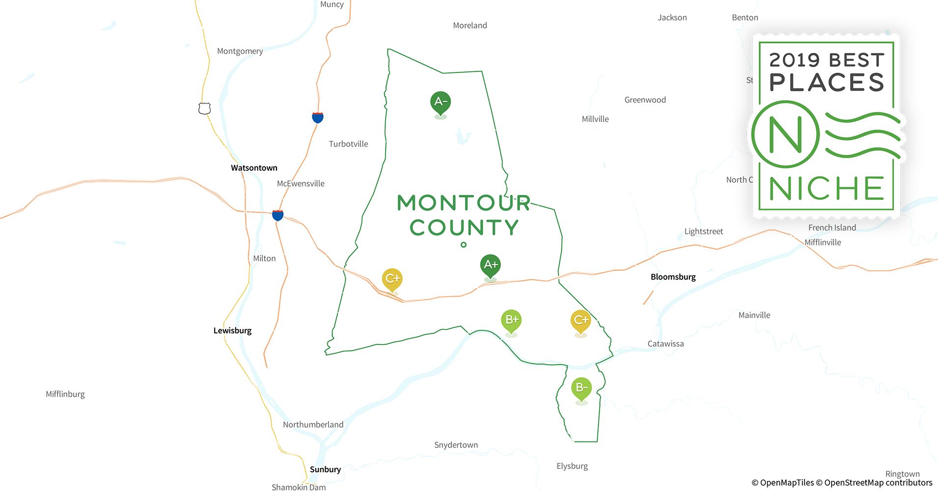 2019 best places to live in montour county  pa
